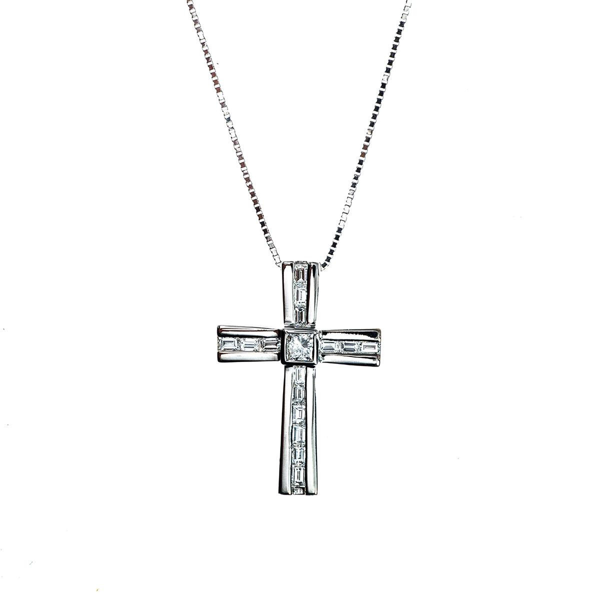 Vintage 0.70 CTW Diamond Cross Pendant