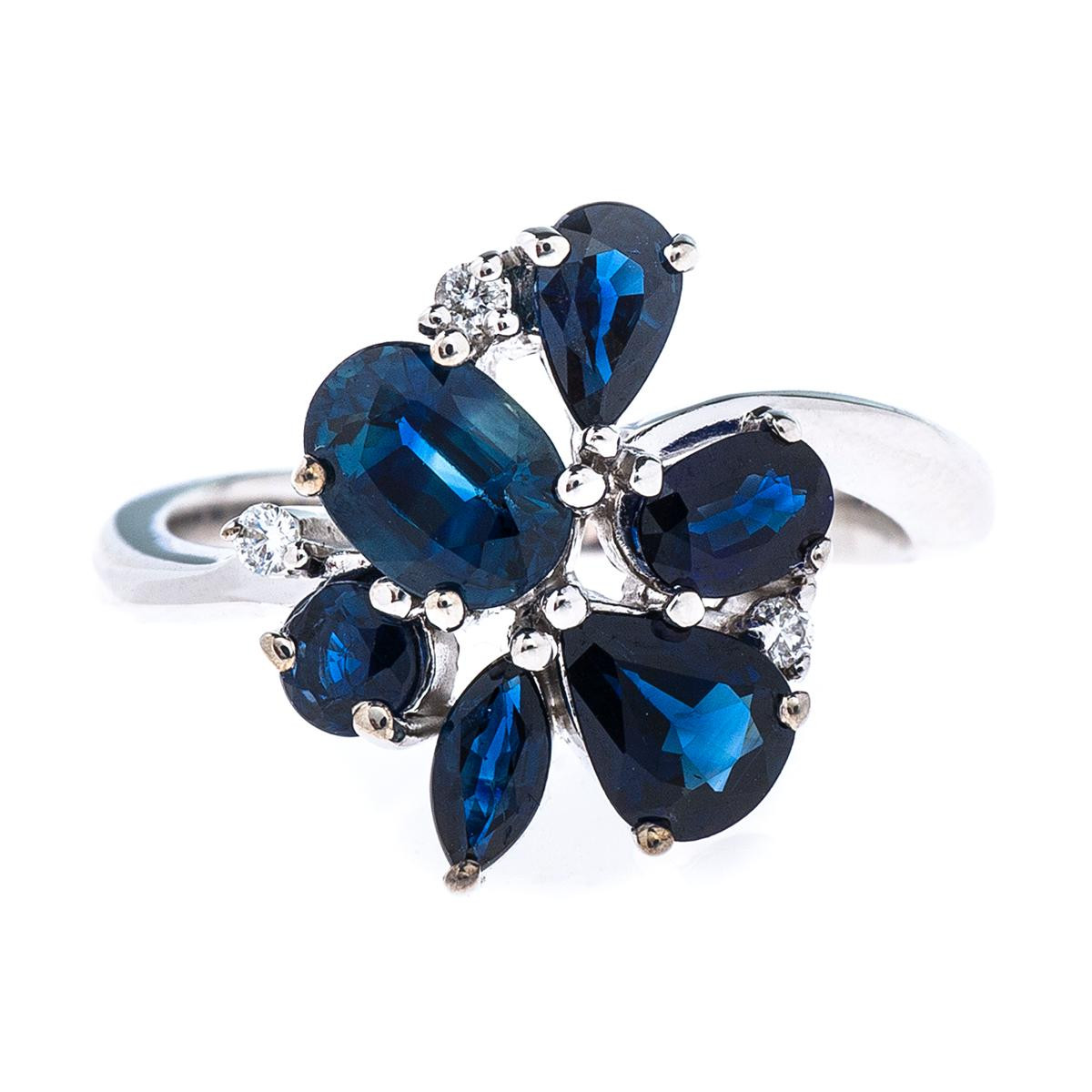 2.13 CTW Sapphire Cluster Ring