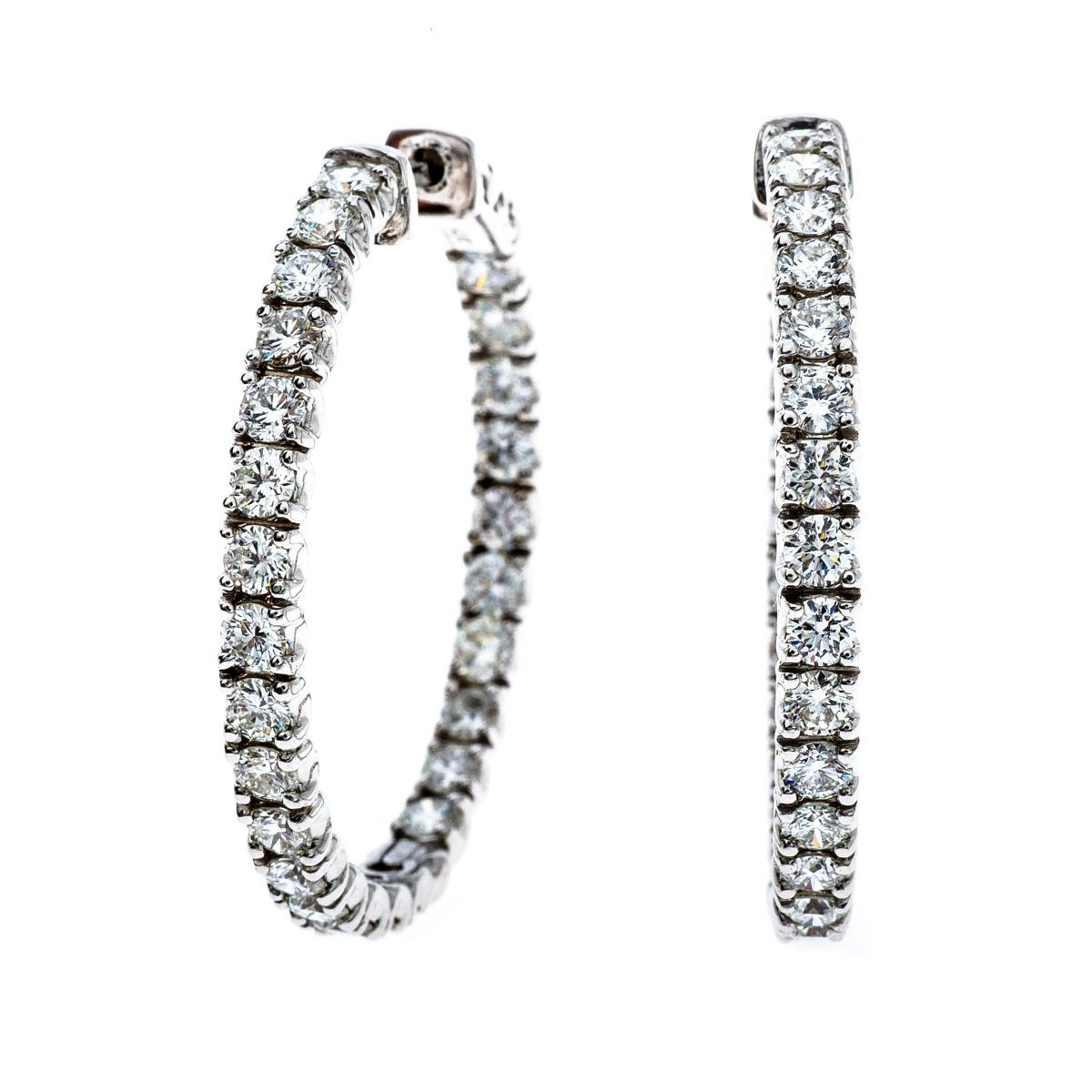 New 4.16 CTW Diamond Inside-Out Hoops