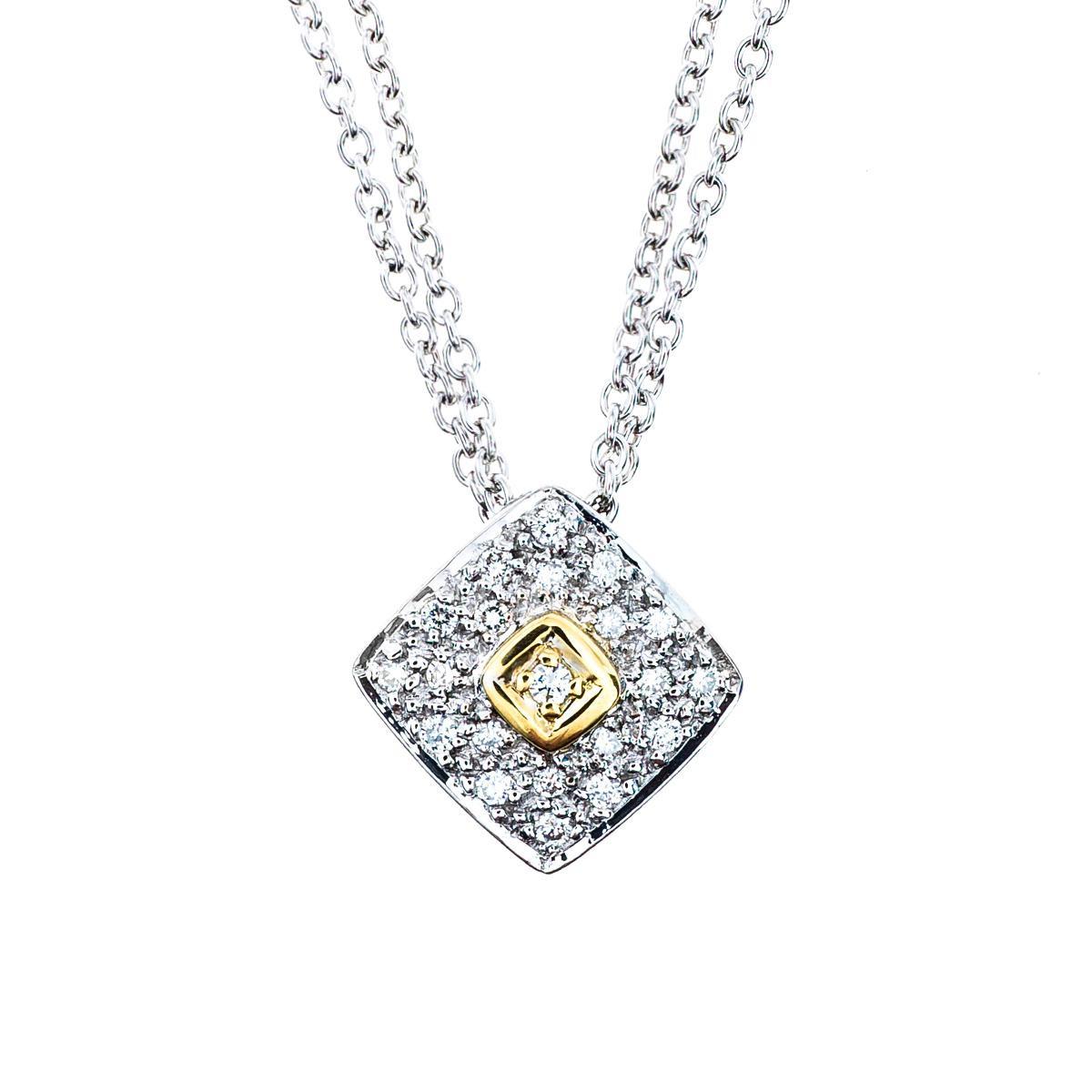 Vintage 0.22 CTW Pavé Diamond Pendant