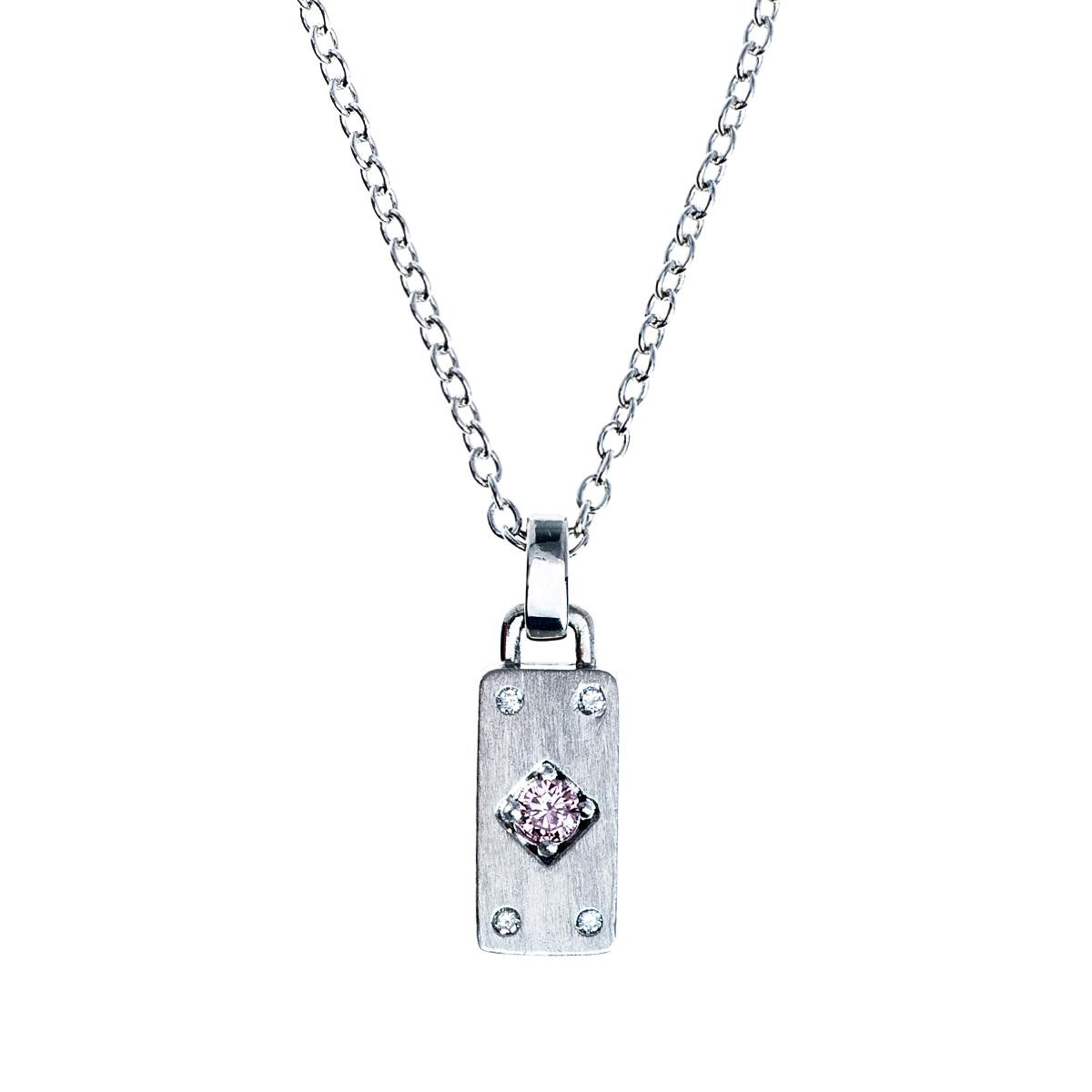 Vintage Pink Diamond Bar Pendant