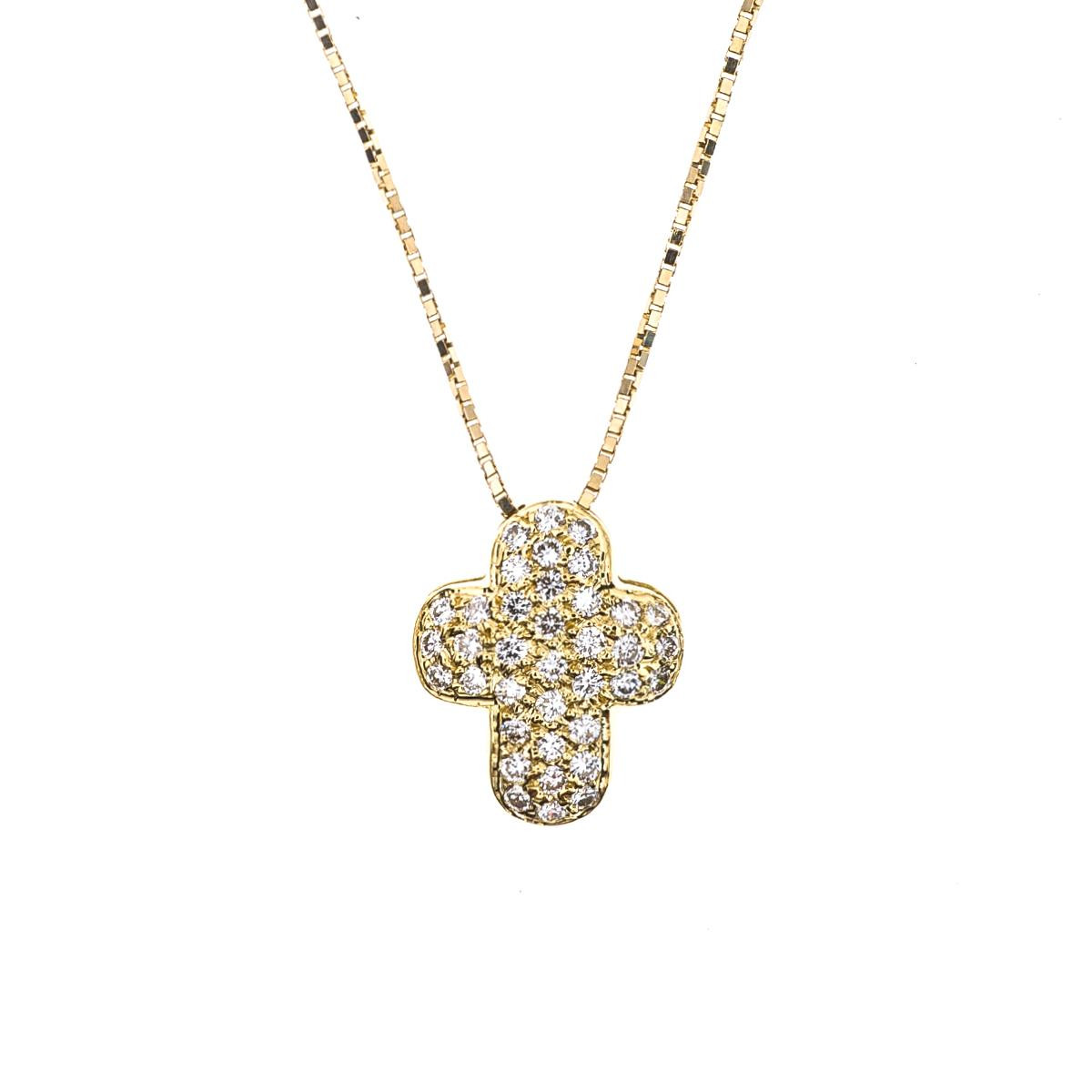 Vintage 0.36 CTW Diamond Pavé Cross Pendant