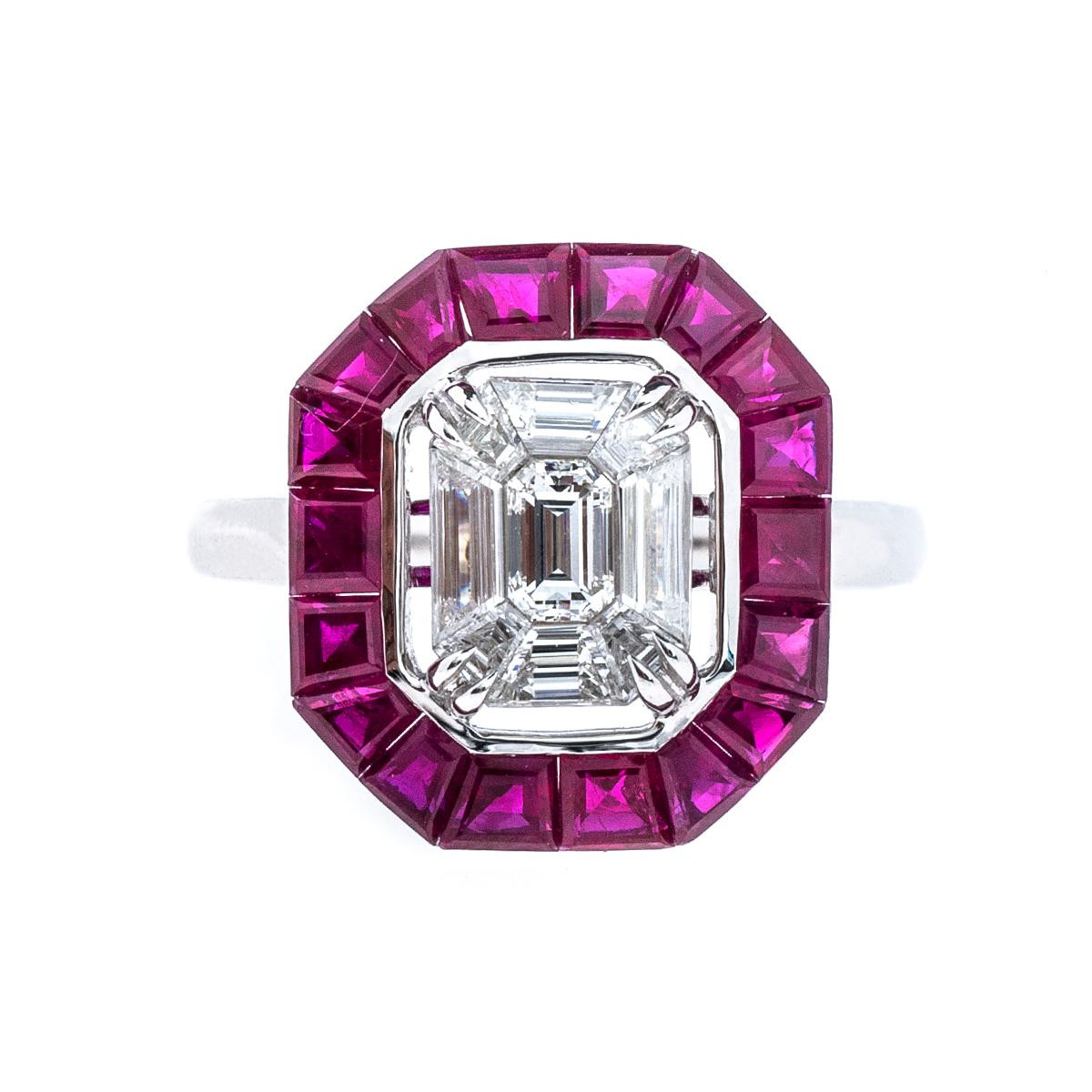 New 2.90 CTW Ruby and Diamond Ring