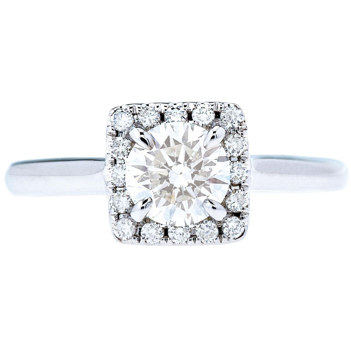 Venetti 0.93 CTW Diamond Halo Engagement Ring