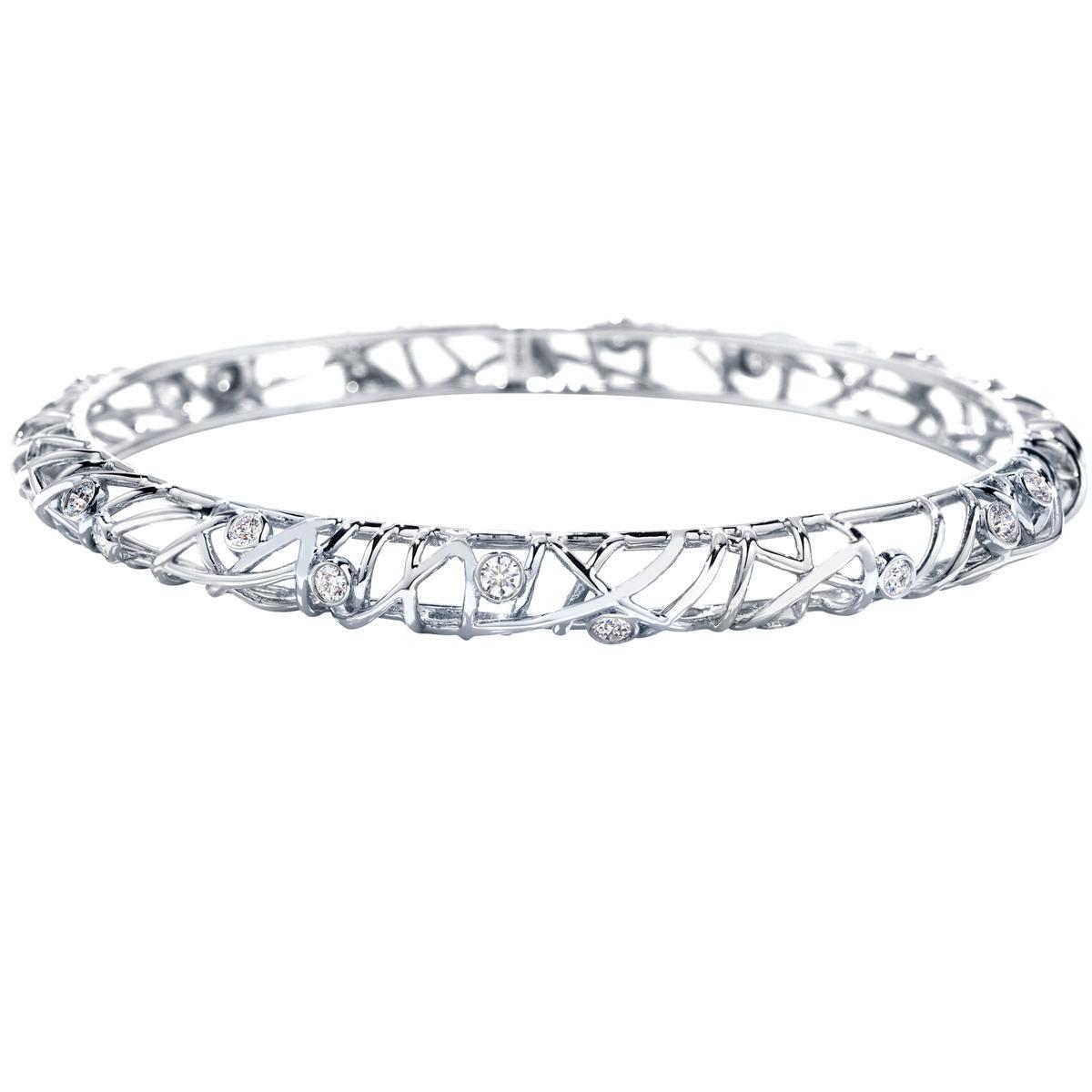 Vintage Hearts On Fire® 1.10 CTW Diamond Brocade Bangle