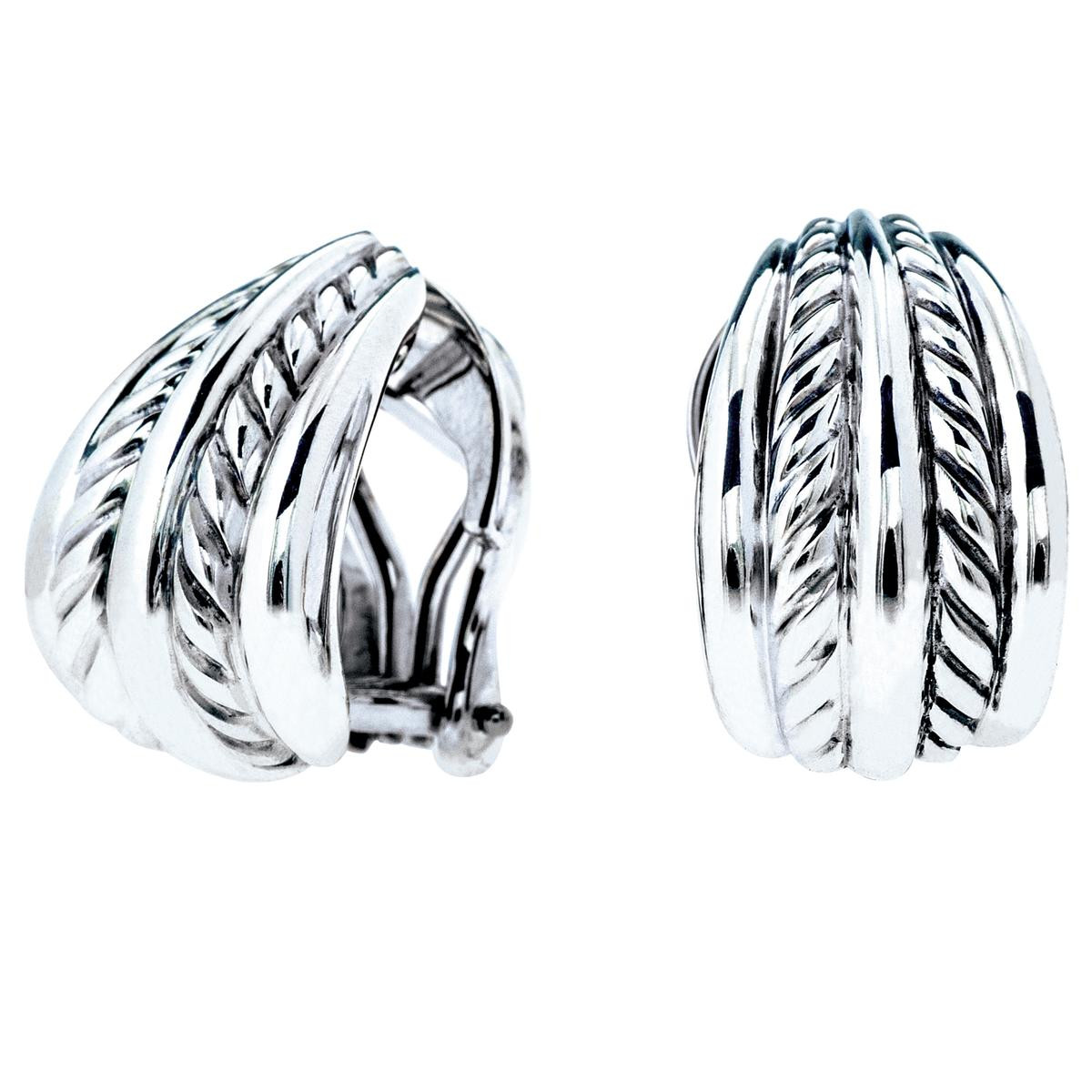 Vintage David Yurman Thoroughbred Cable Earrings Gallery Image