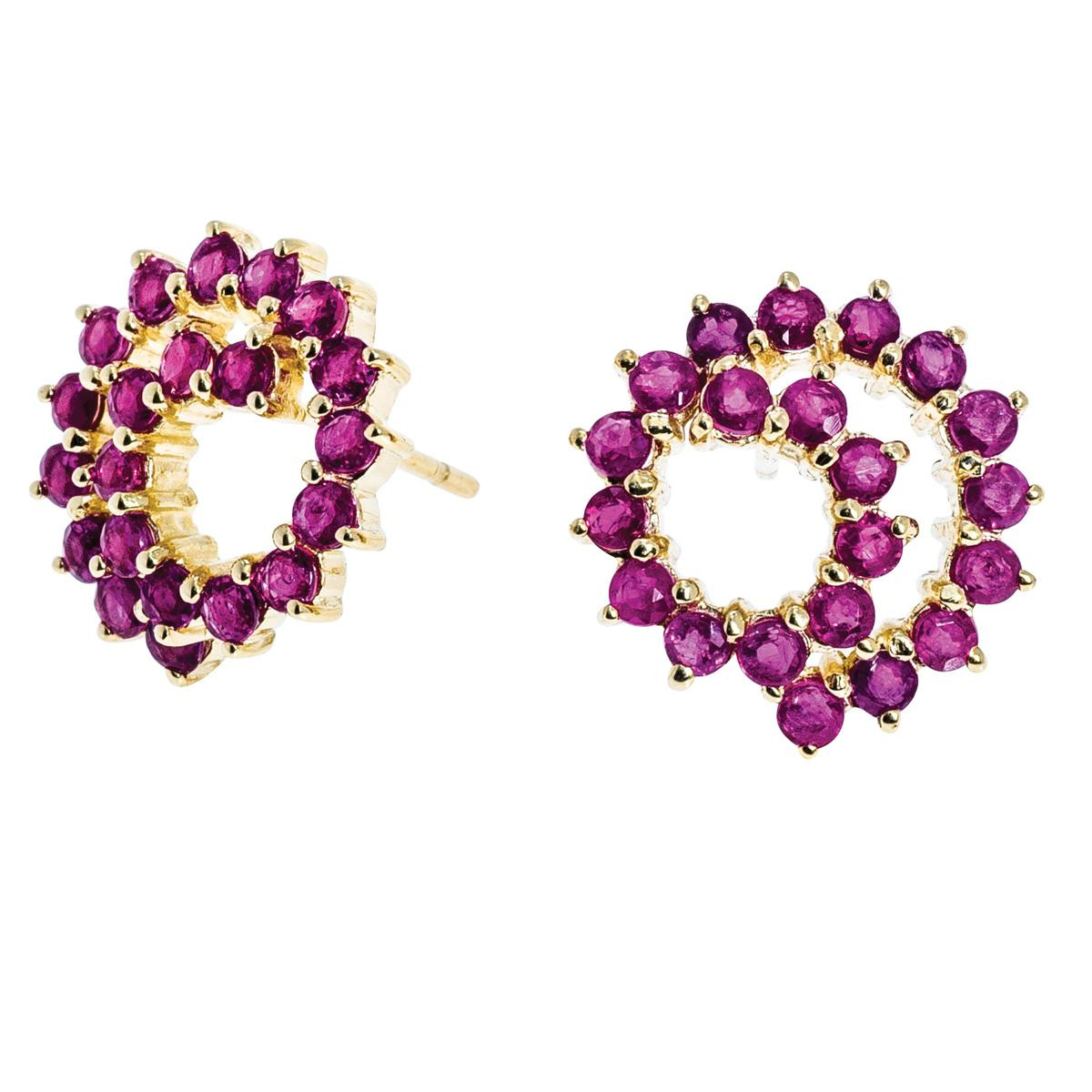 1.26 CTW Ruby Earrings