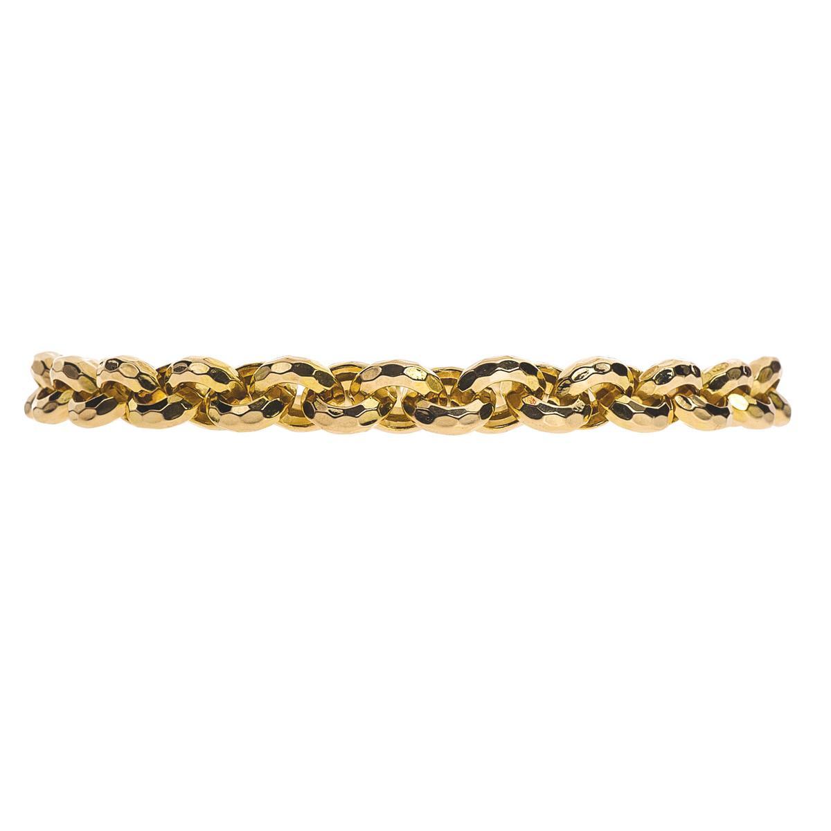 Vintage 14K Rolo Circle Link Bracelet