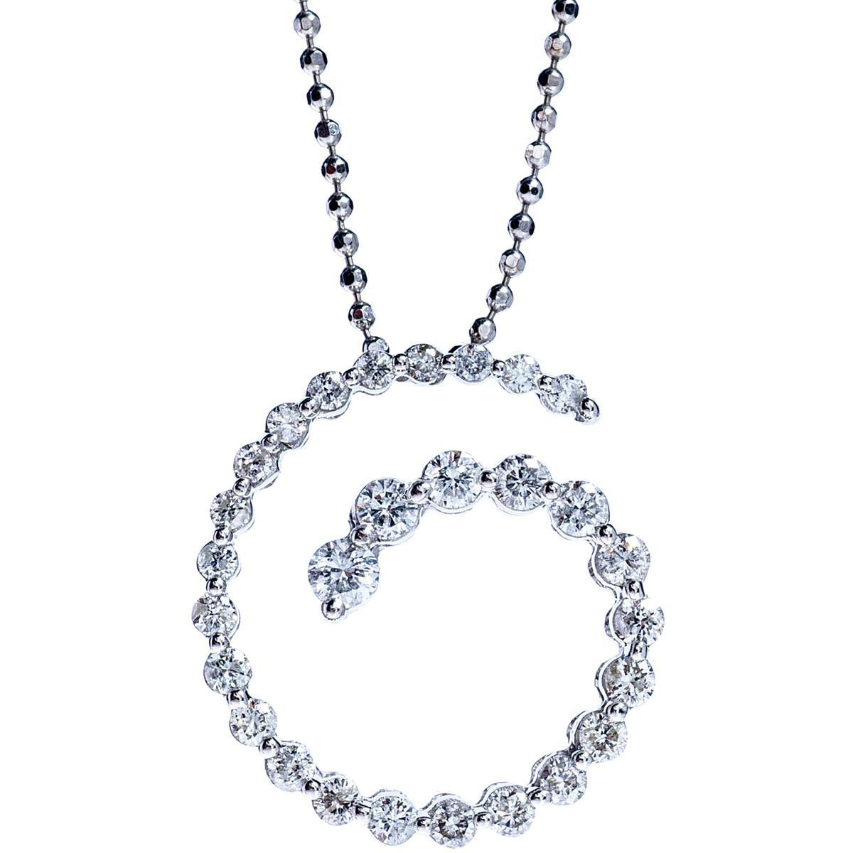 0.60 CTW Diamond Swirl Pendant