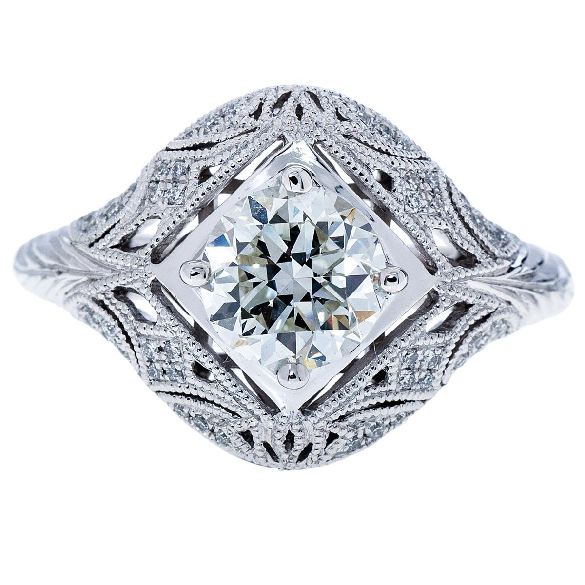 Venetti 1.20 CT Diamond Filigree Engagement Ring