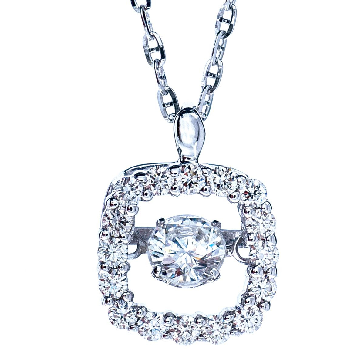 Oro Alexander 0.50 CTW Dancing Diamond Necklace