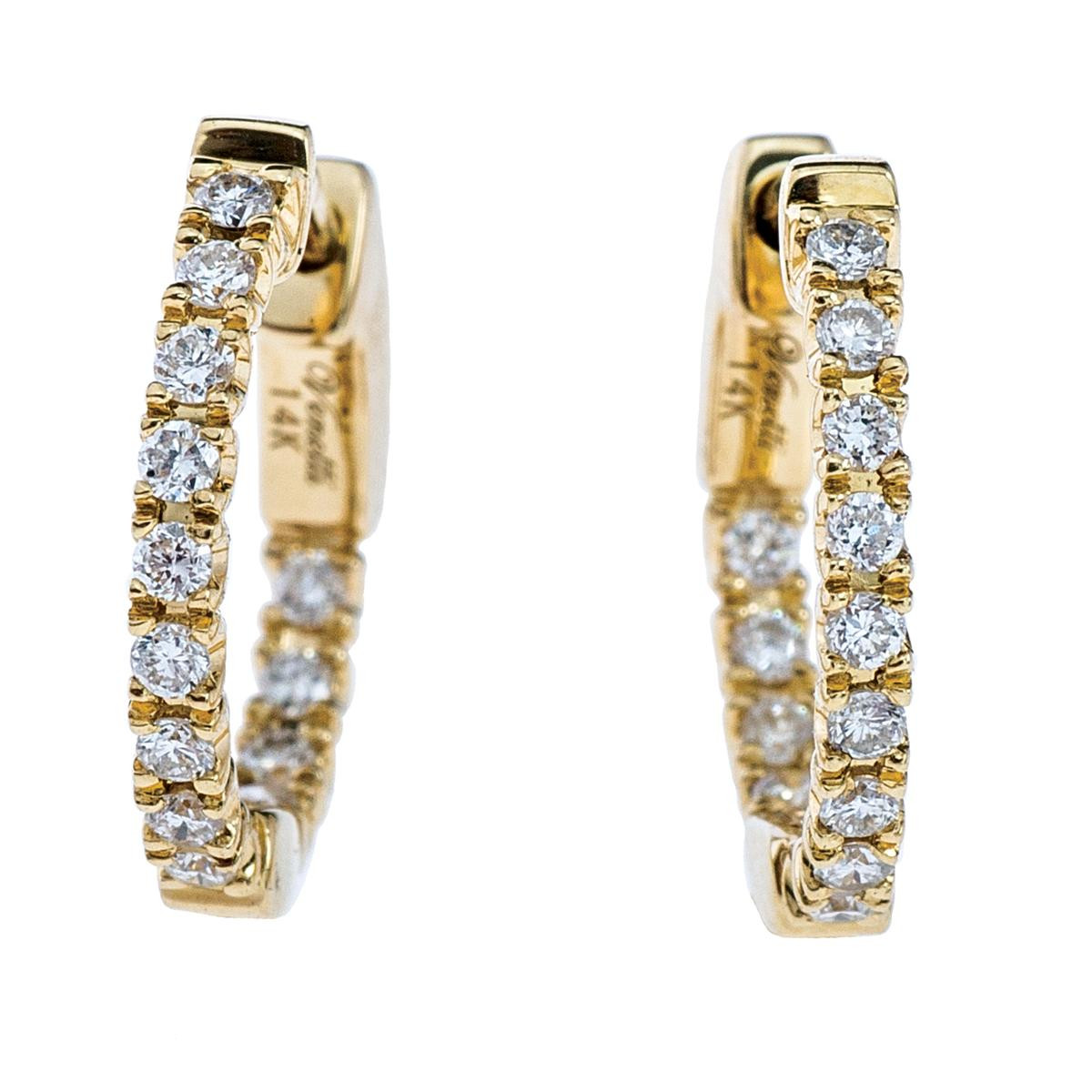 Venetti 0.25 CTW Diamond Huggie Earrings