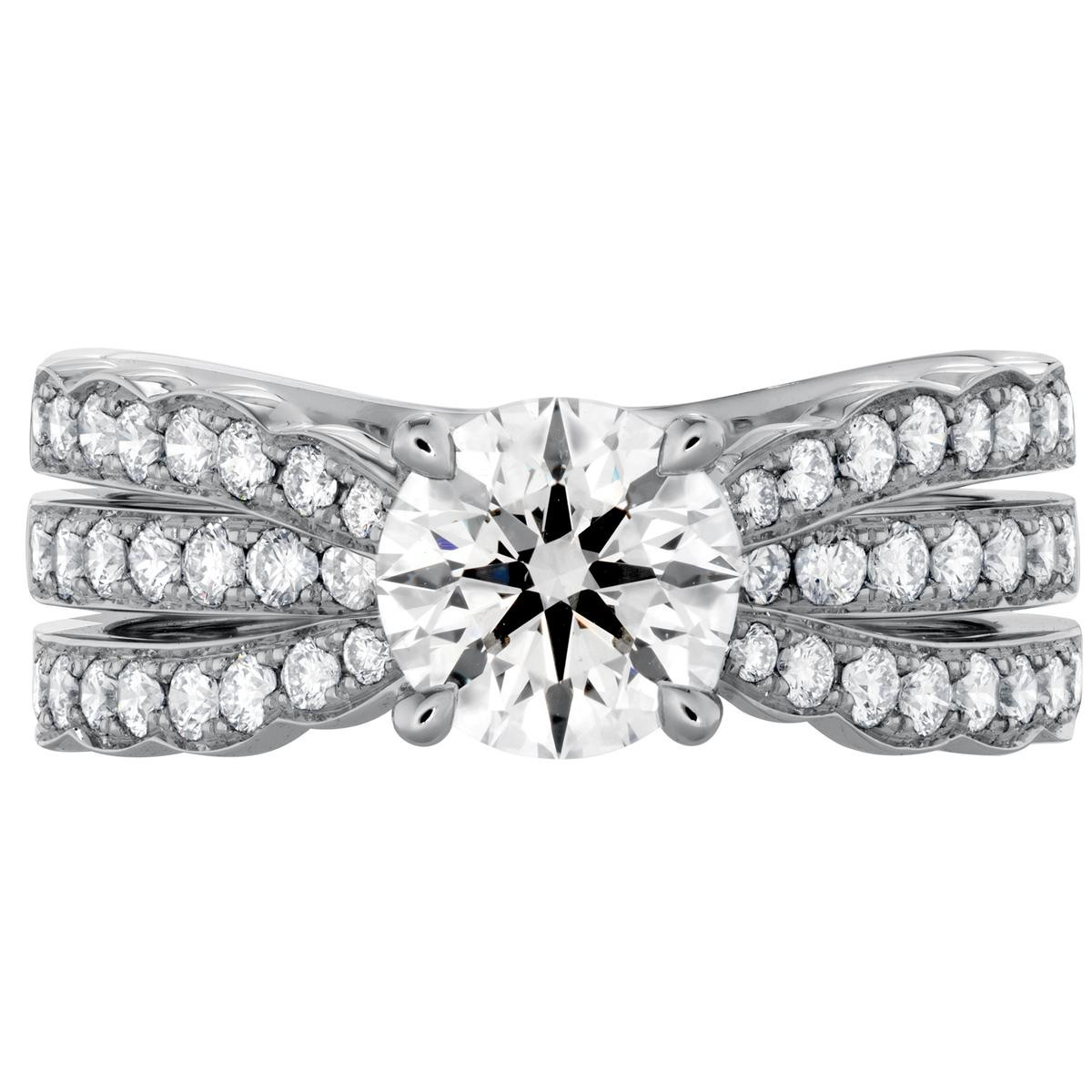 Hearts On Fire® 2.11 CTW Diamond Lorelei Triple Row Engagement Ring