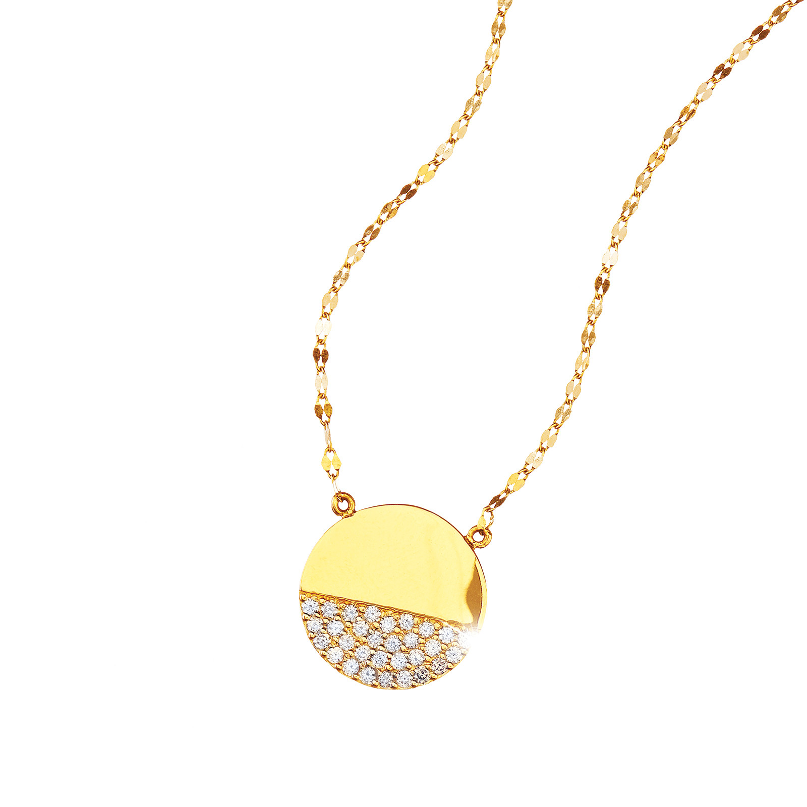 New Lana Jewelry 0.40 CTW Diamond Illusion Disc Necklace