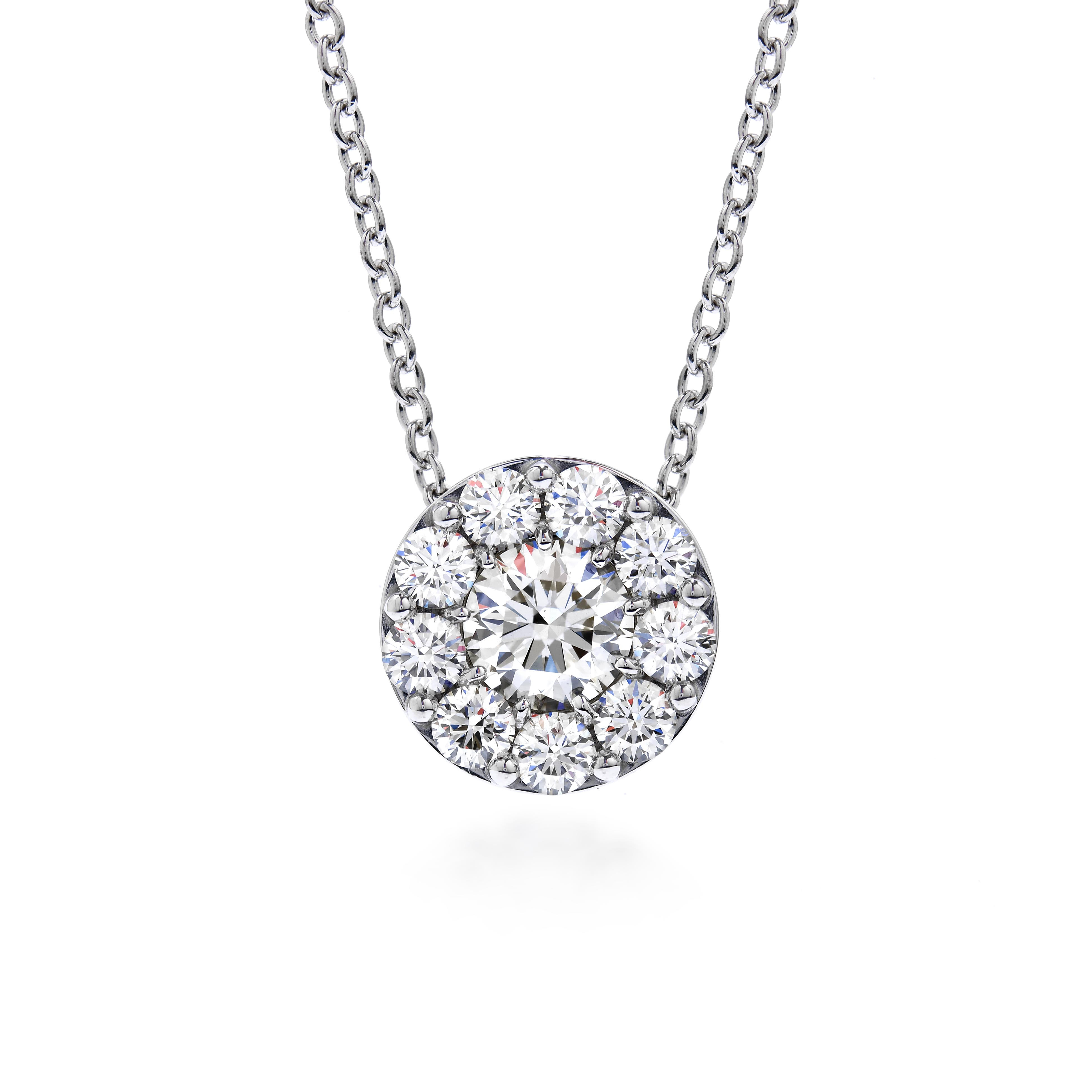 New Hearts On Fire® 0.49 CTW Diamond Fulfillment Round Pendant Necklace with Chain