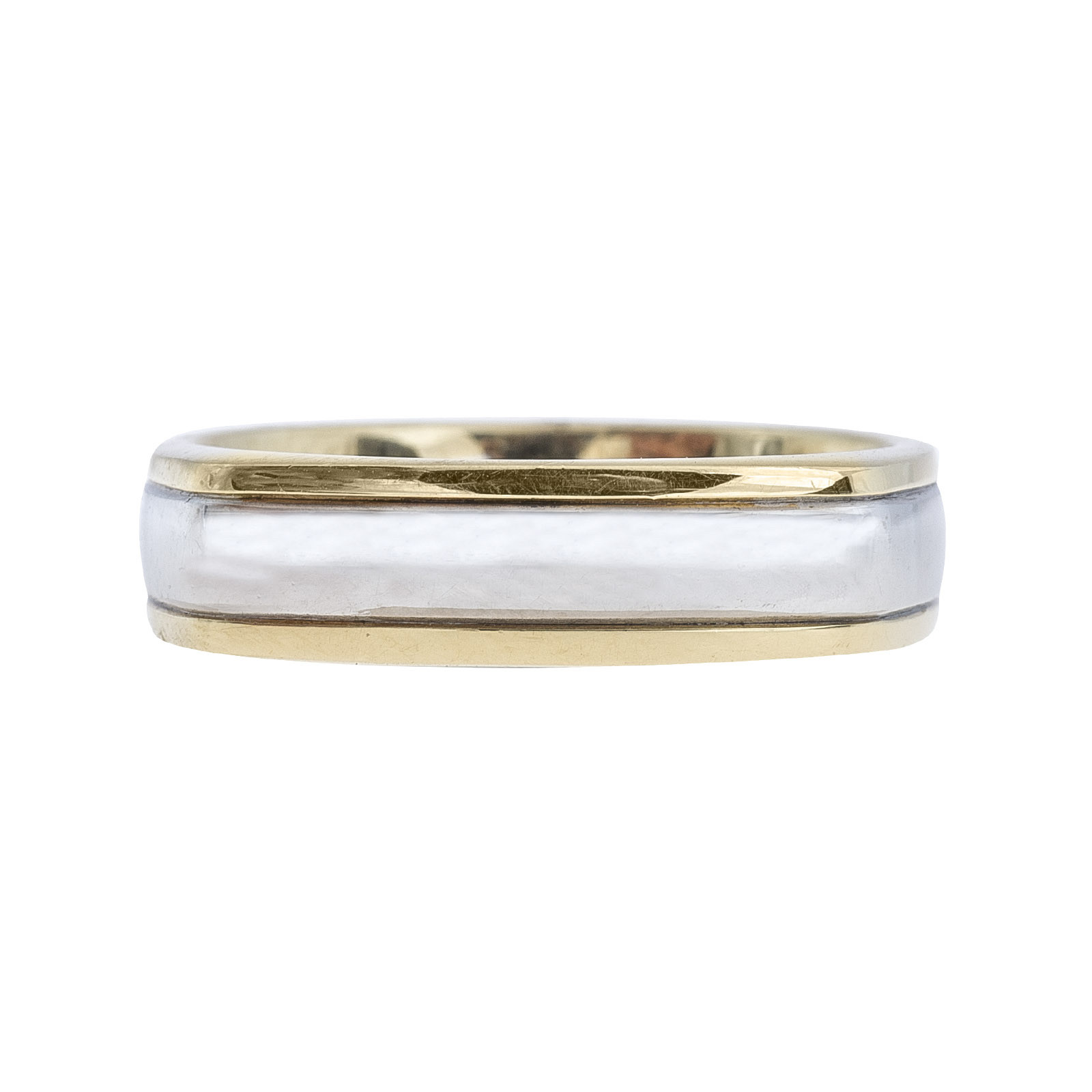Vintage A. Jaffe Two-Tone Men's Wedding Band