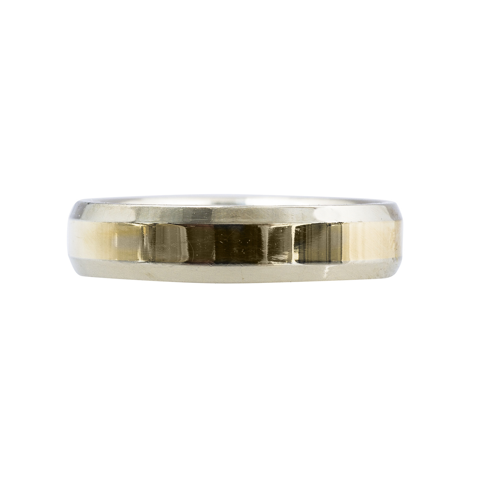New Two-Tone Gold Men's Wedding Band
