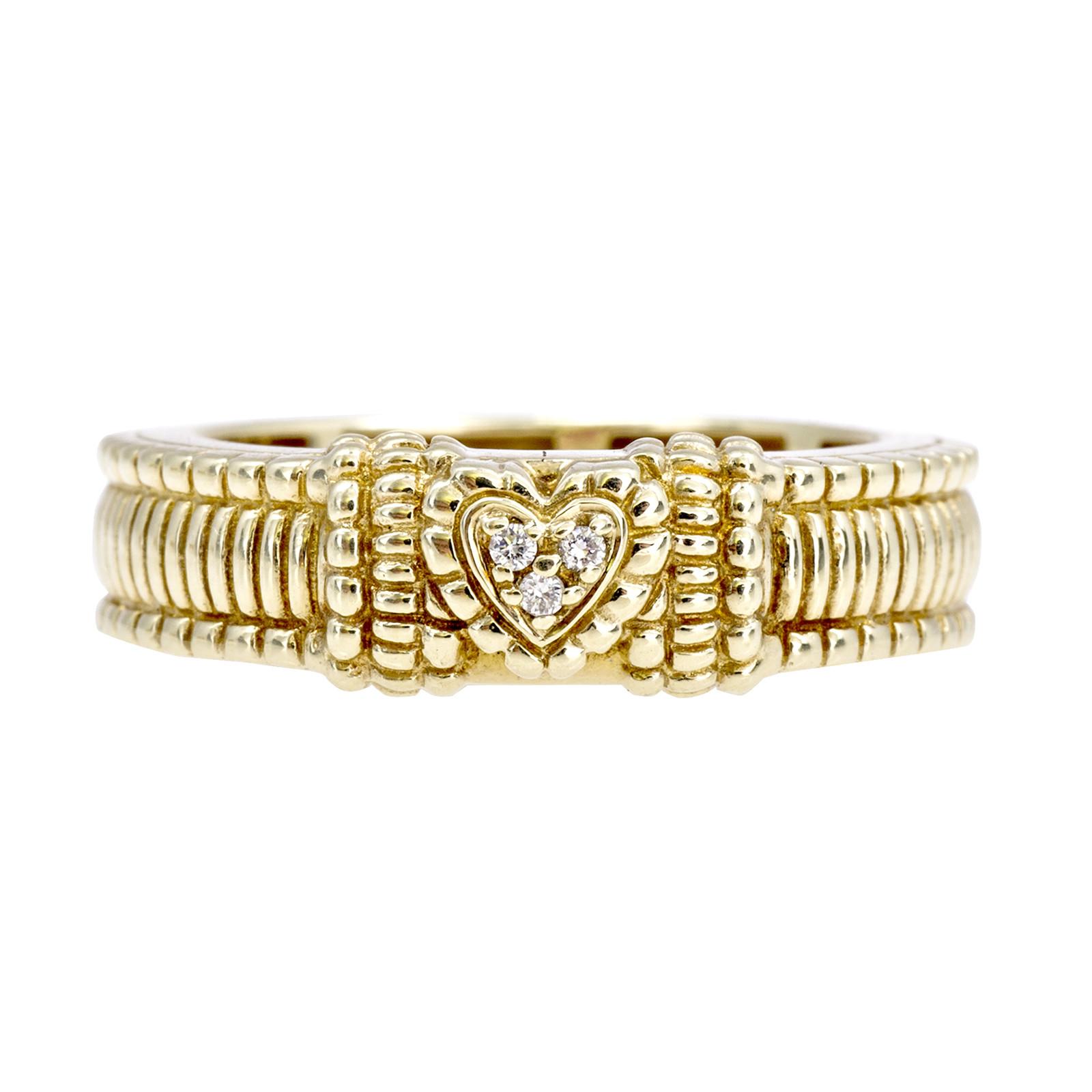 Vintage Judith Ripka 0.02 CTW Diamond Heart Ring