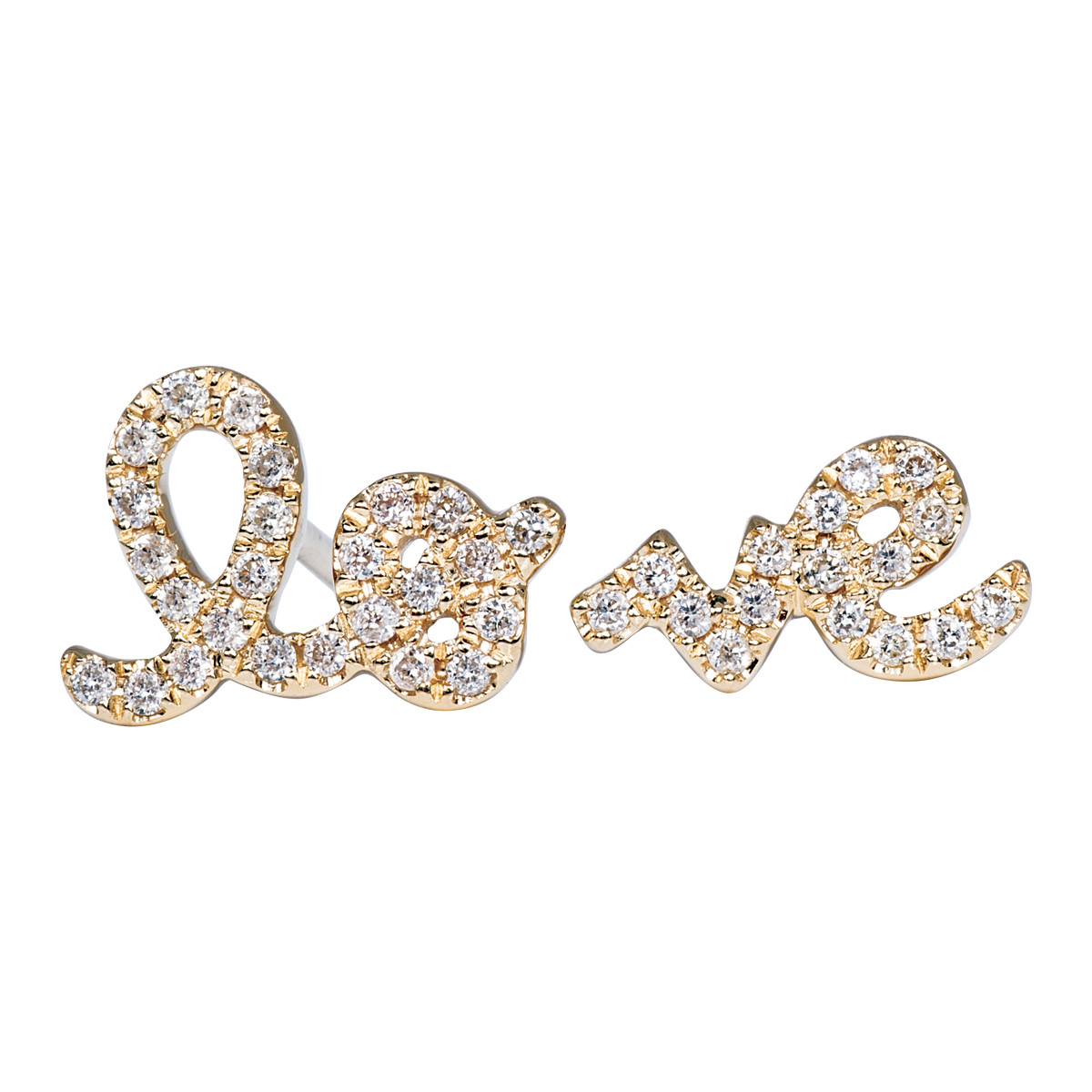 "Sydney Evan ""Love"" Stud Earrings"