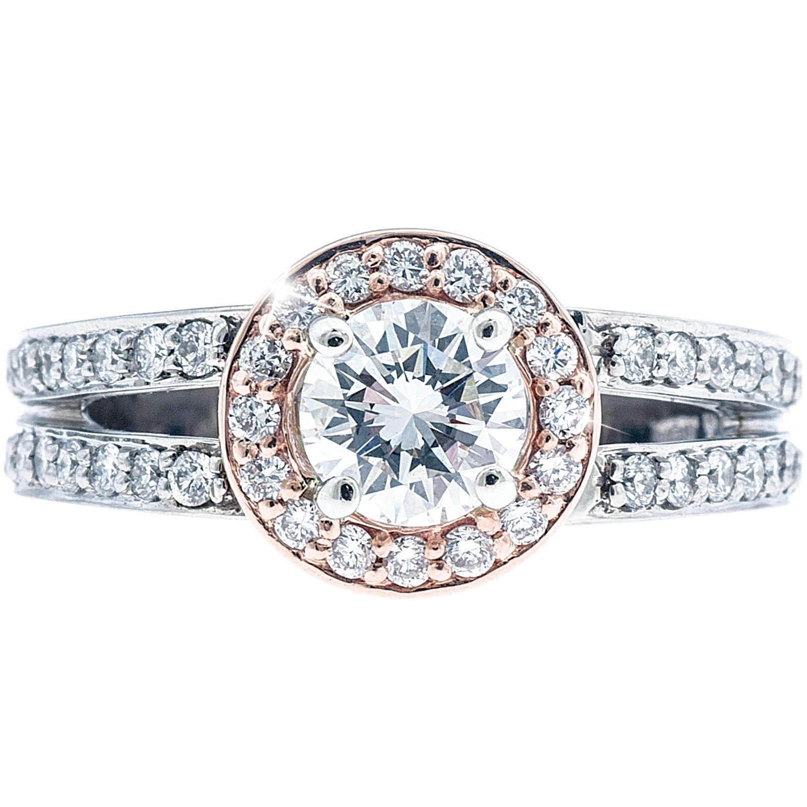 New Asba & Dangler 1.13 CTW Diamond Engagement Ring
