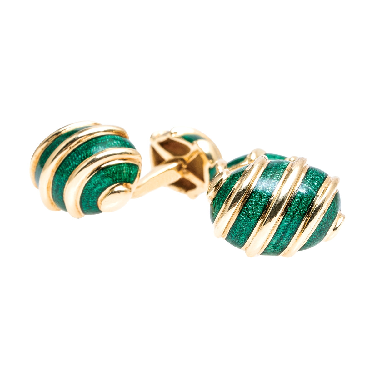 Vintage Tiffany & Co. Jean Schlumberger Green Cufflinks