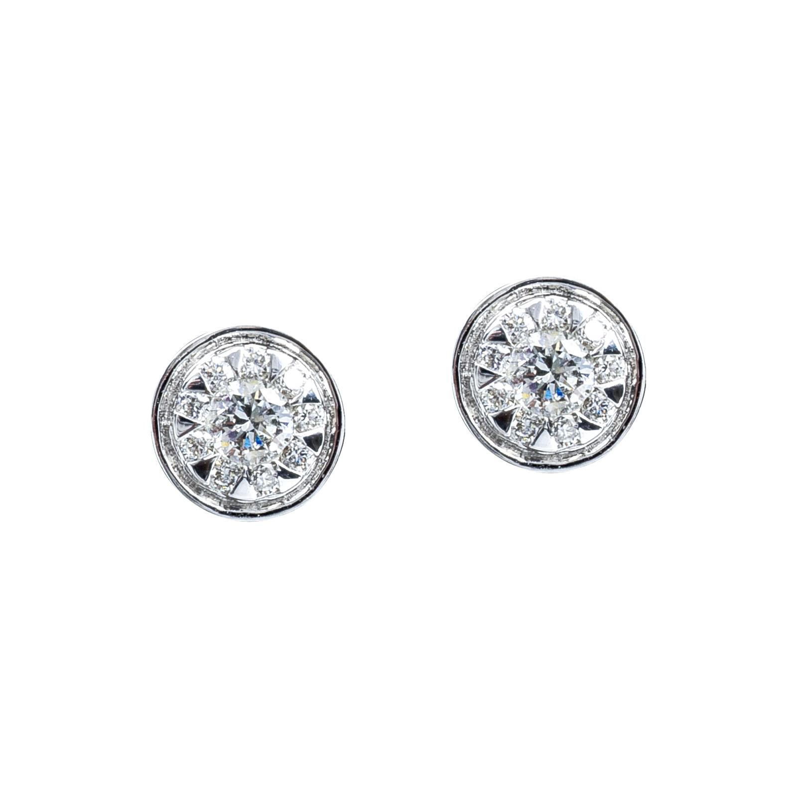 New Mémoire® 0.33 CTW Diamond Bouquets Stud Earrings