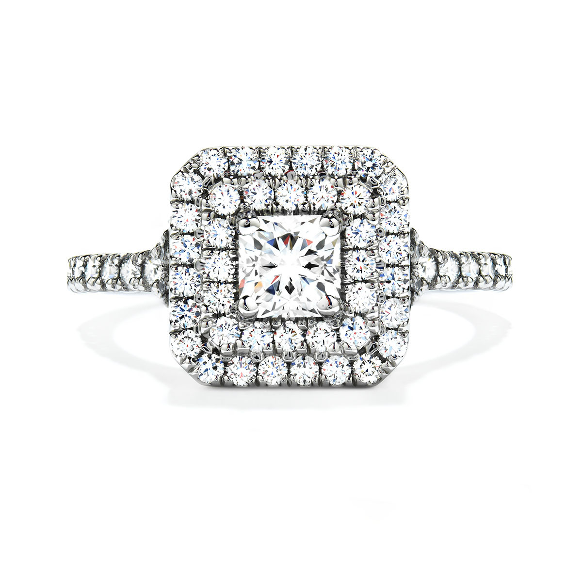 New Hearts On Fire® Diamond Transcend Double Halo Ring