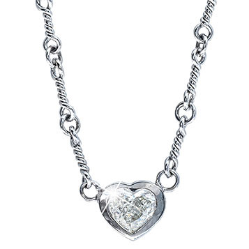 Vintage 0.75 CT Diamond Heart Necklace