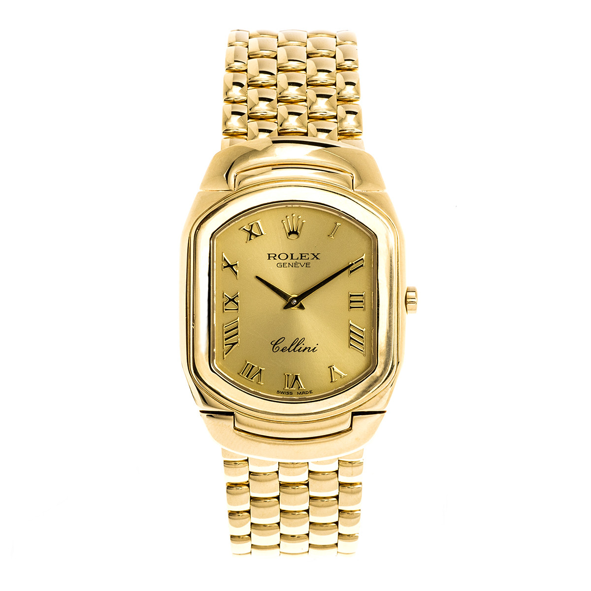 Preowned Men's 18K Gold Rolex Cellini