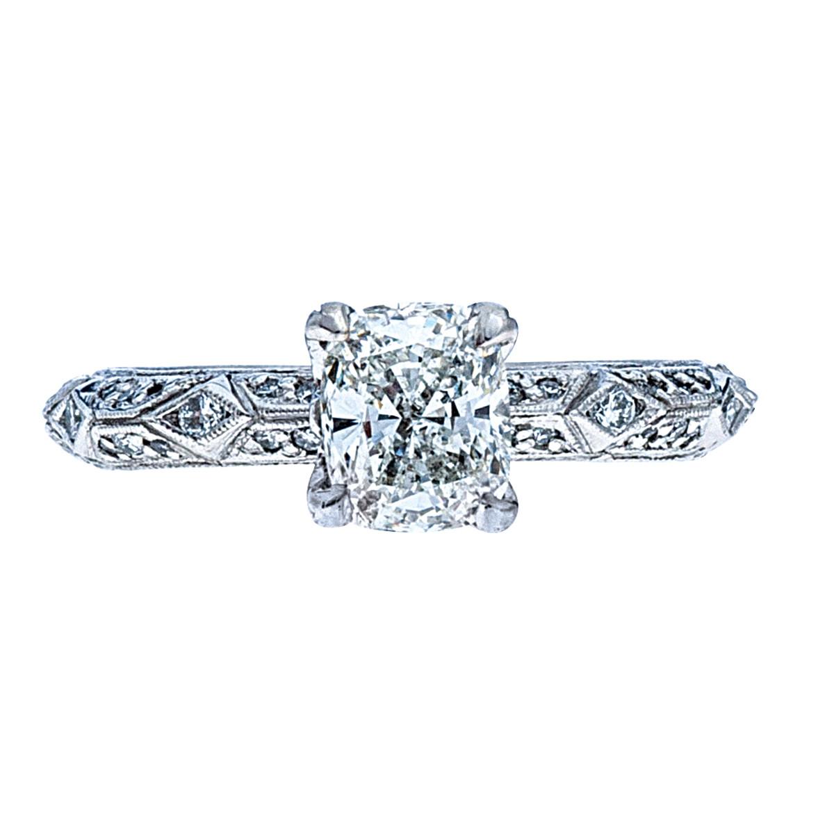 Vintage Tacori 1.32 CTW Diamond Engagement Ring