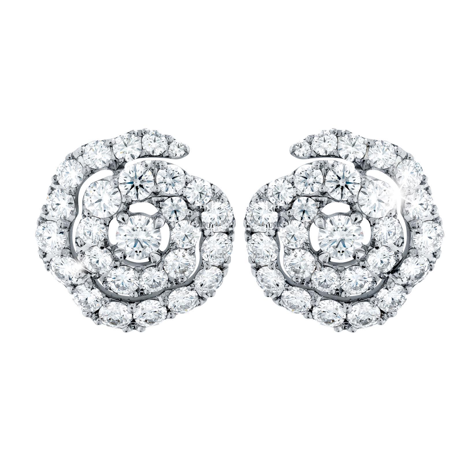 New Hearts On Fire® 1.94 CTW Diamond Lorelei Floral Earrings