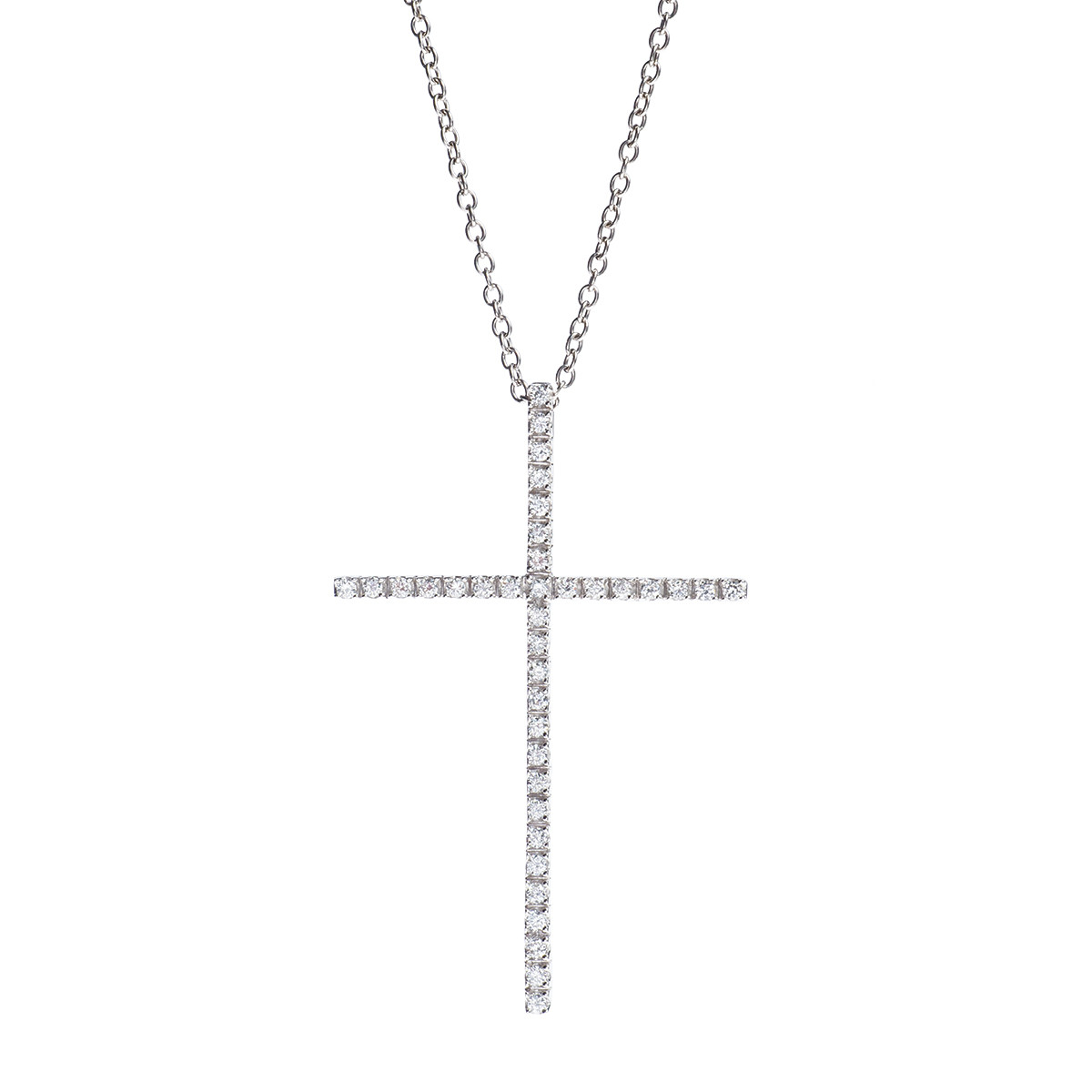 Vintage 0.66 CTW Diamond Cross Pendant