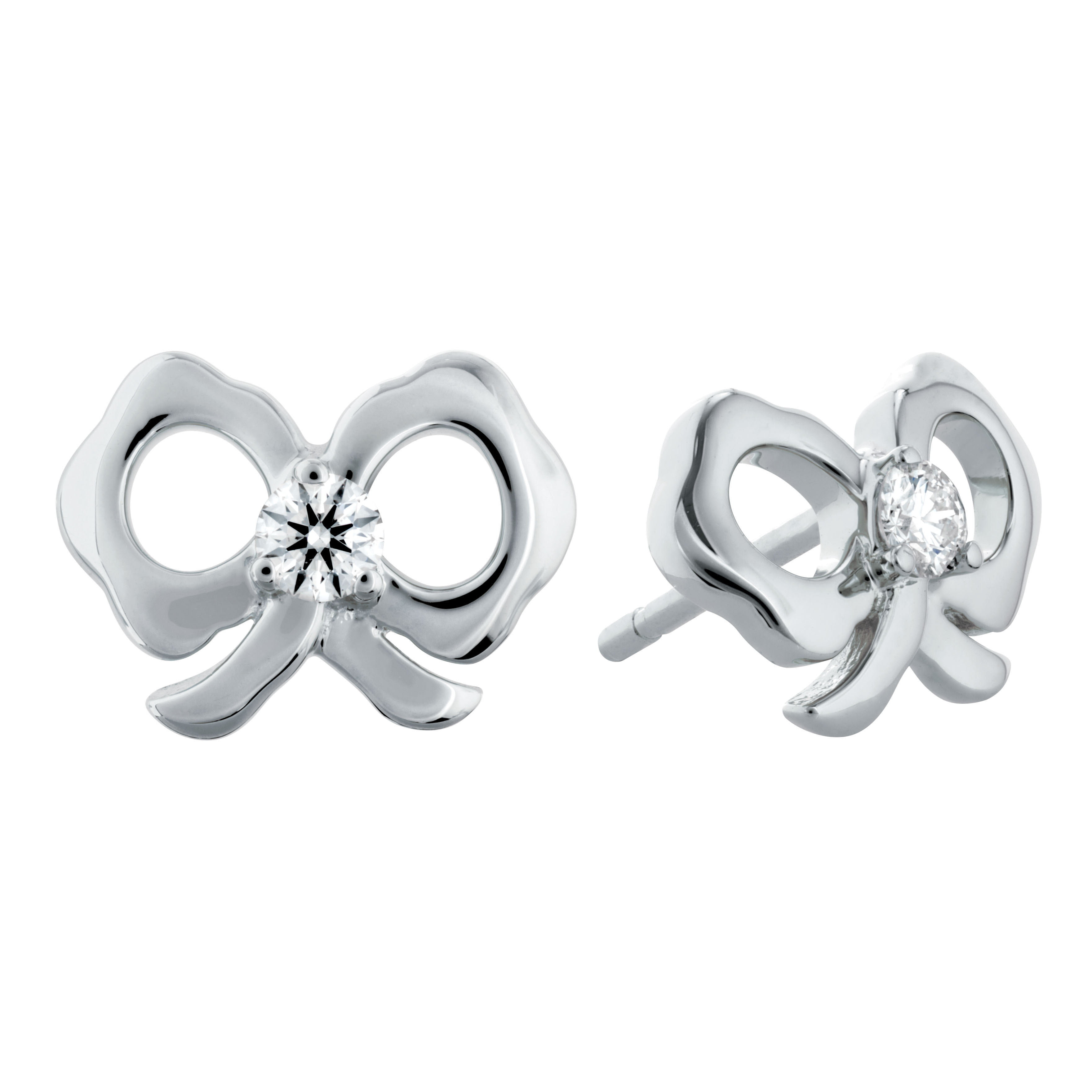 Hearts On Fire® 0.12 CTW Lorelei Bow Stud Earrings