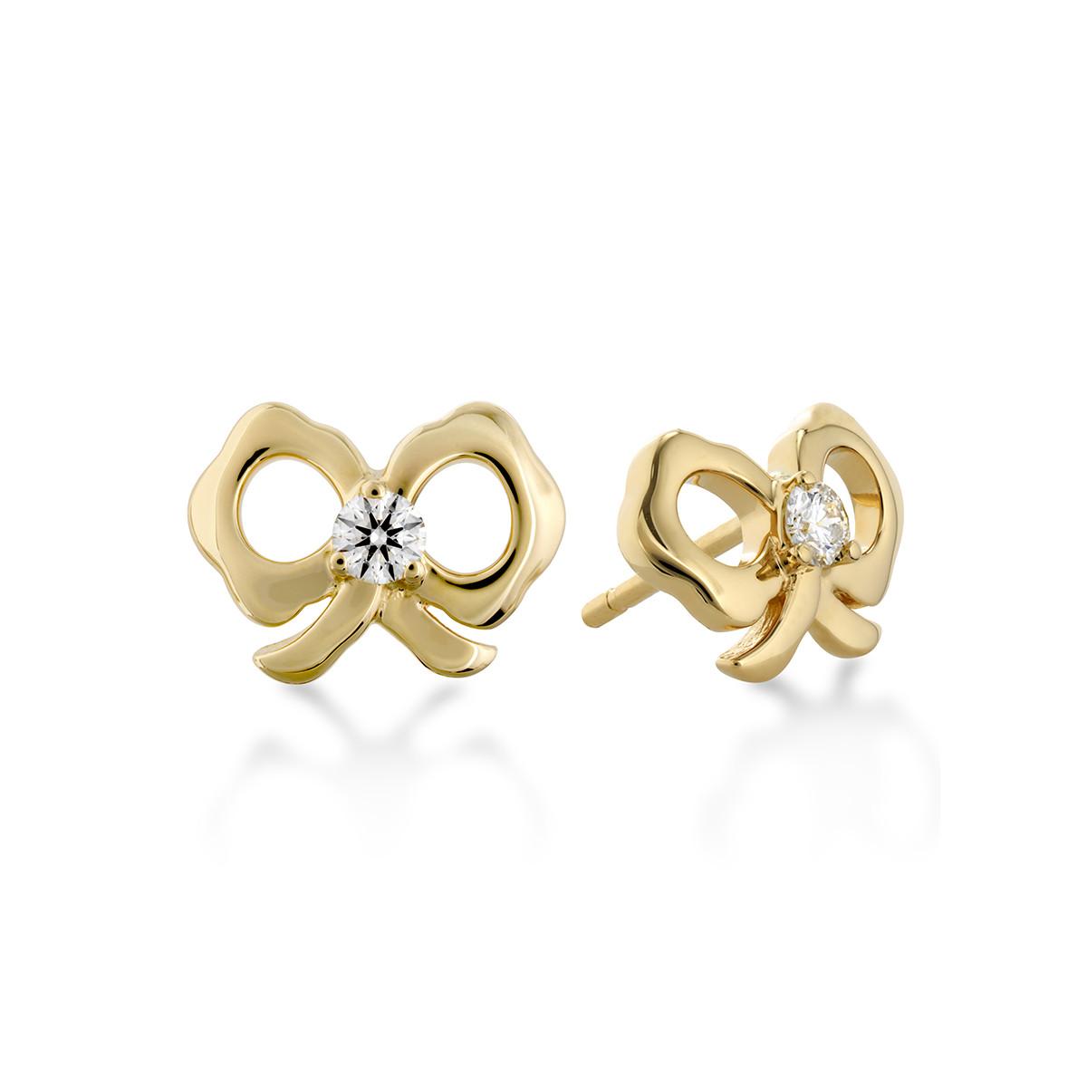 New Hearts On Fire® 0.13 CTW Diamond Lorelei Bow Earrings