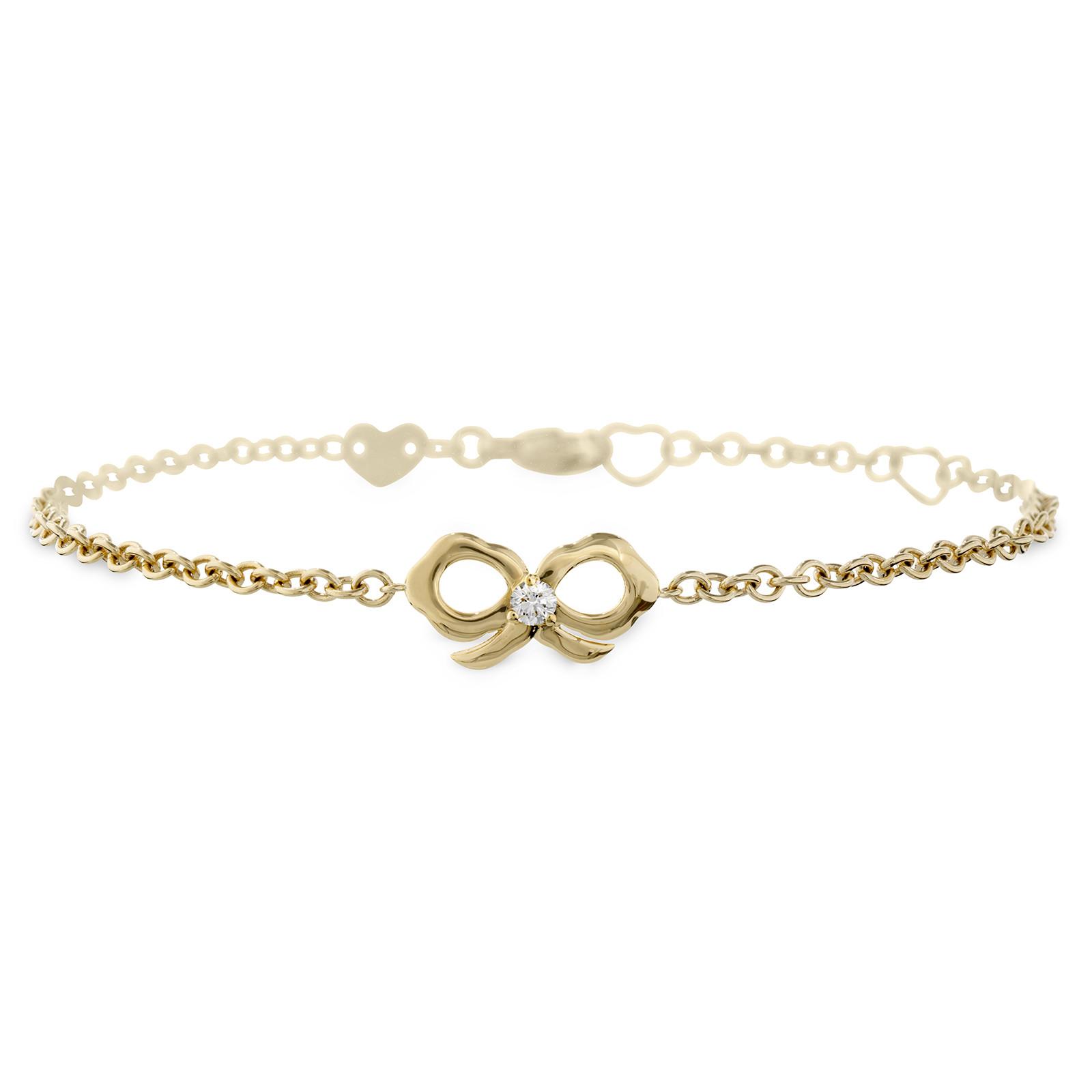 New Hearts On Fire® 0.06 CT Diamond Lorelei Bow Bracelet