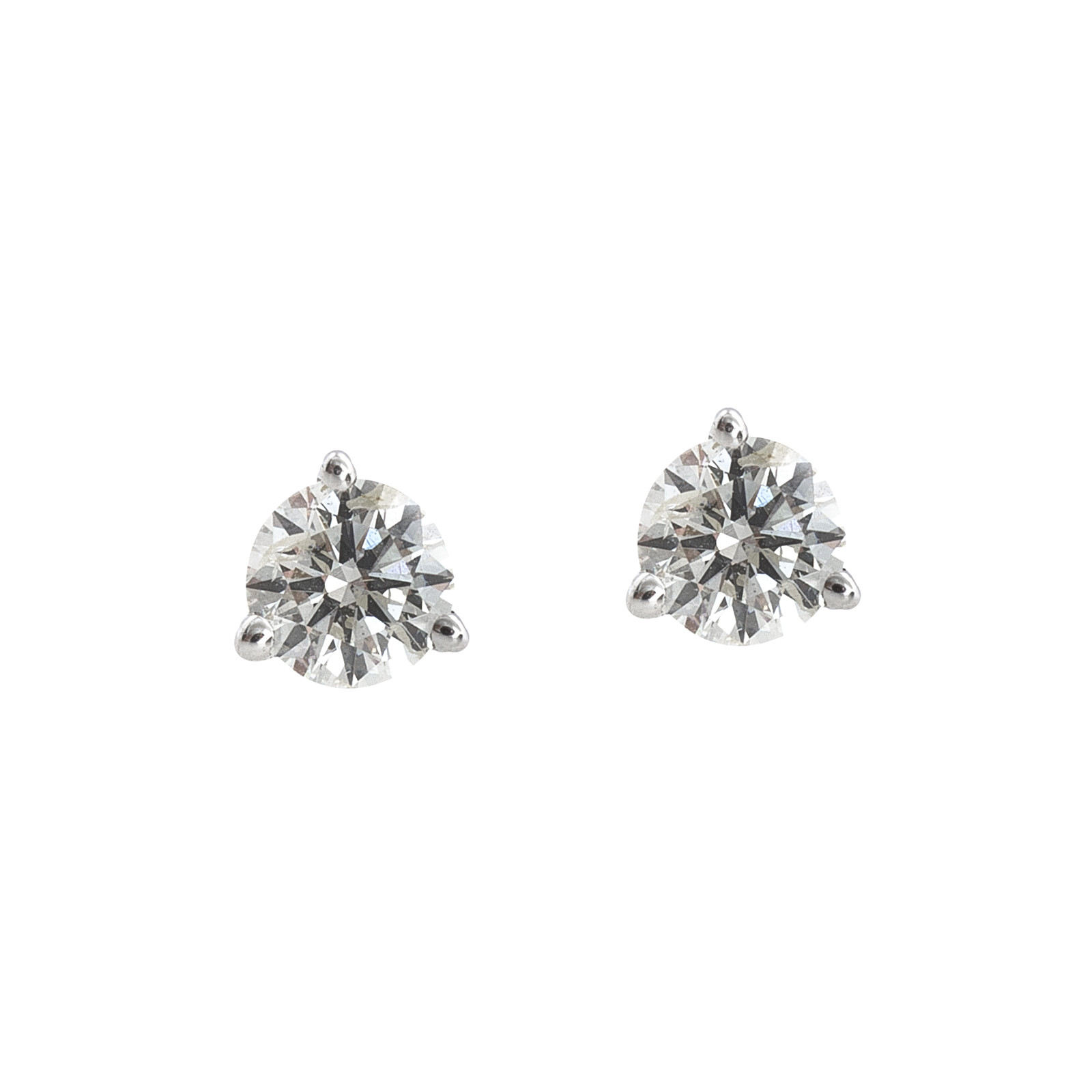 Vintage Roberto Coin 0.54 CTW Diamond Stud Earrings