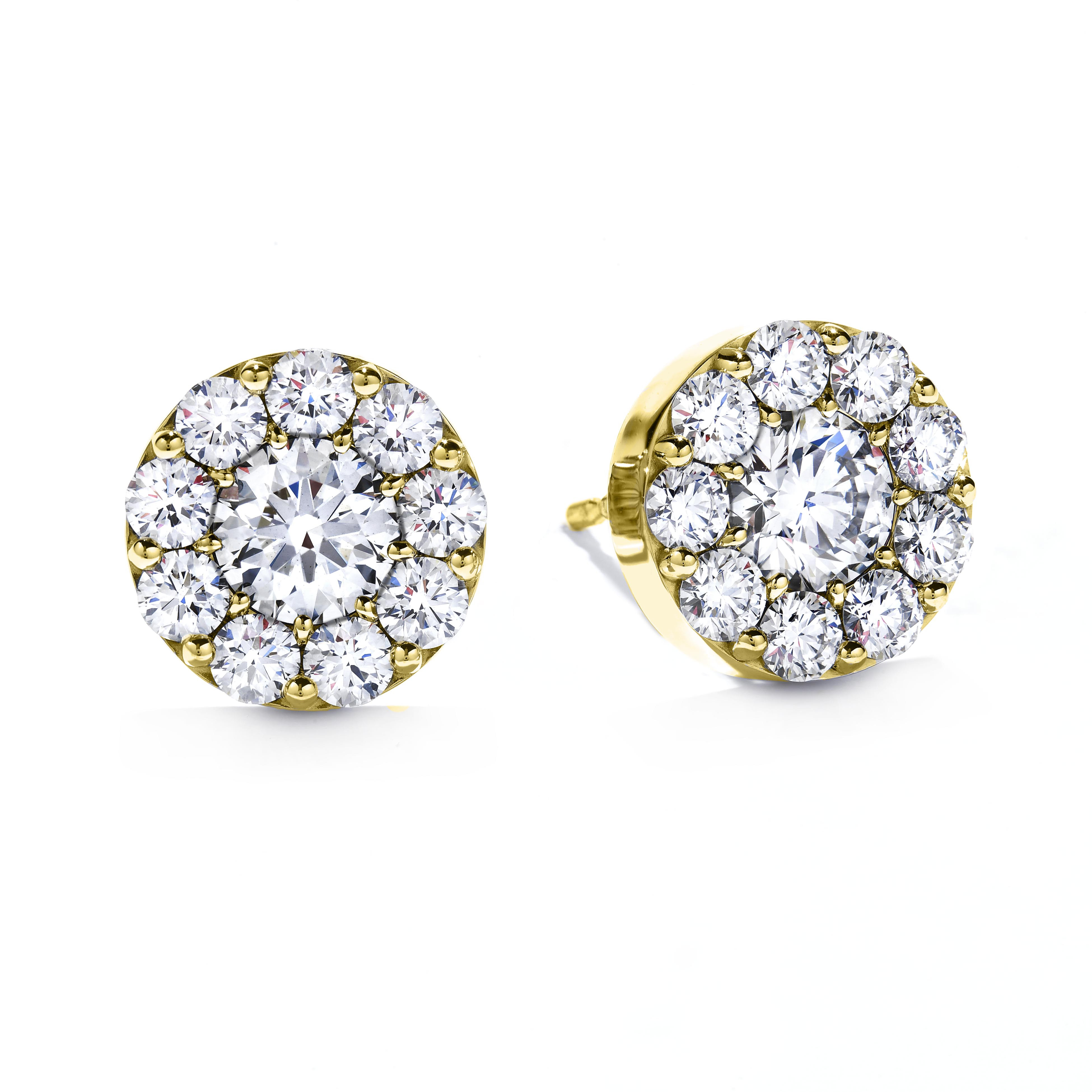 New Hearts On Fire® 0.51 CTW Diamond Fulfillment Round Earrings