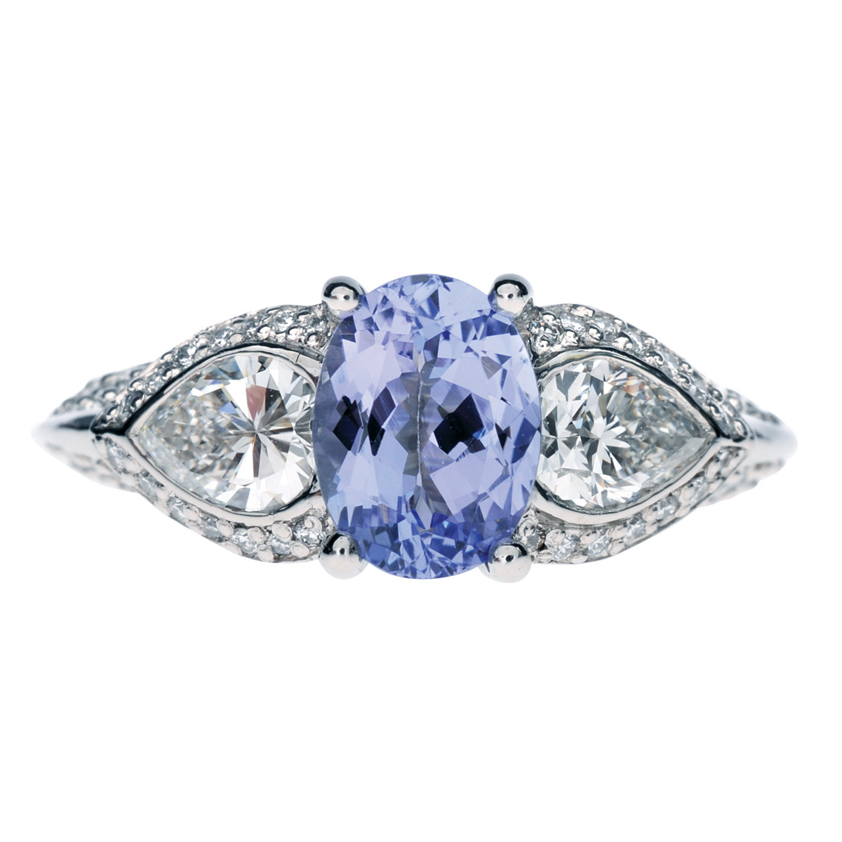Vintage Ritani 2.33 CTW Tanzanite & Diamond Ring