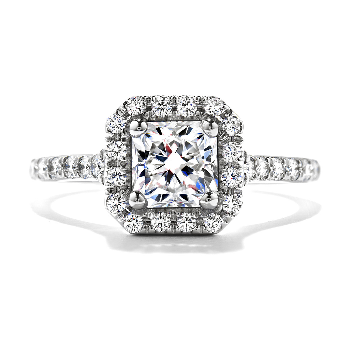 New Hearts On Fire® 1.06 CTW Diamond Transcend Halo Engagement Ring