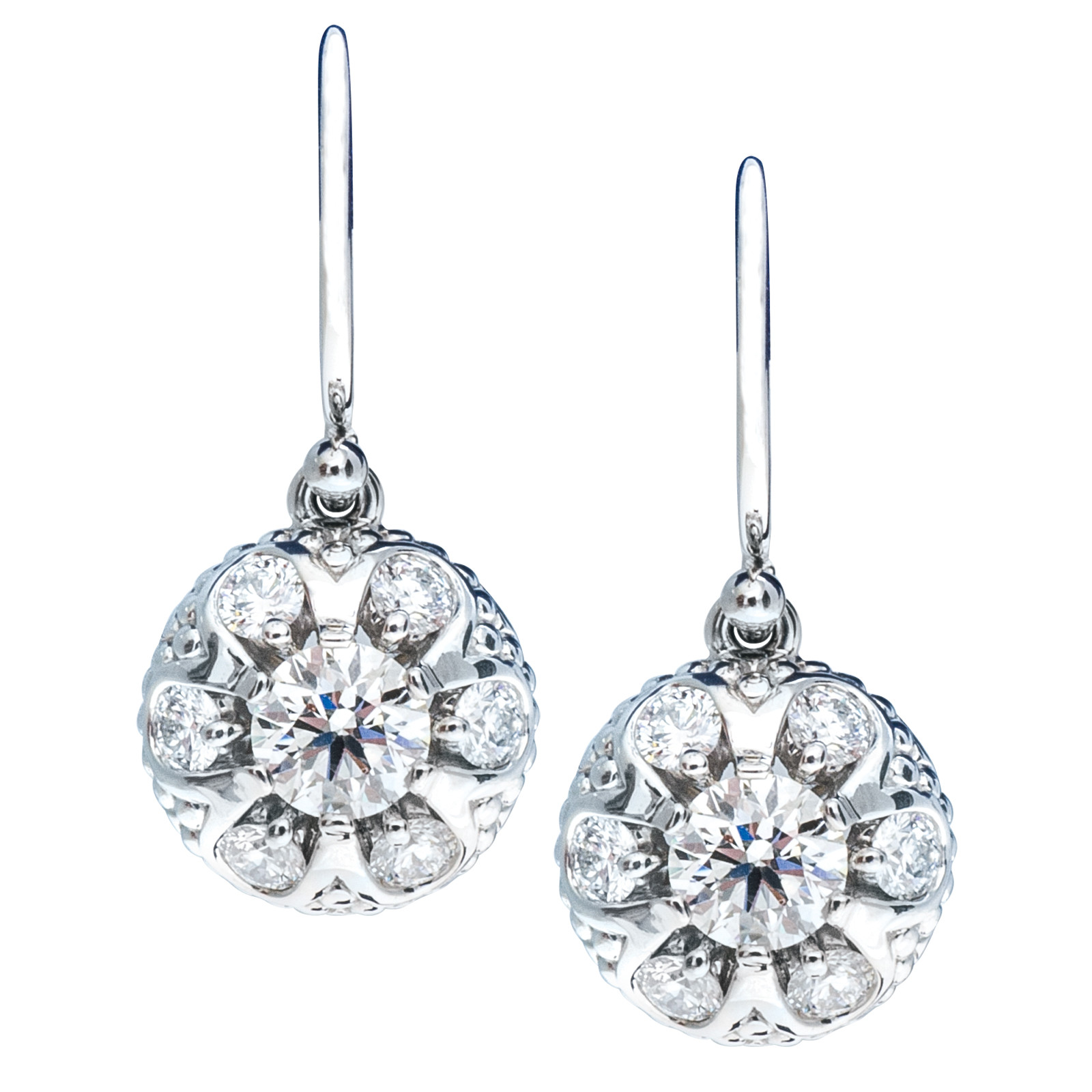 New Hearts On Fire® 0.90 CTW Diamond Melange Dangle Earrings