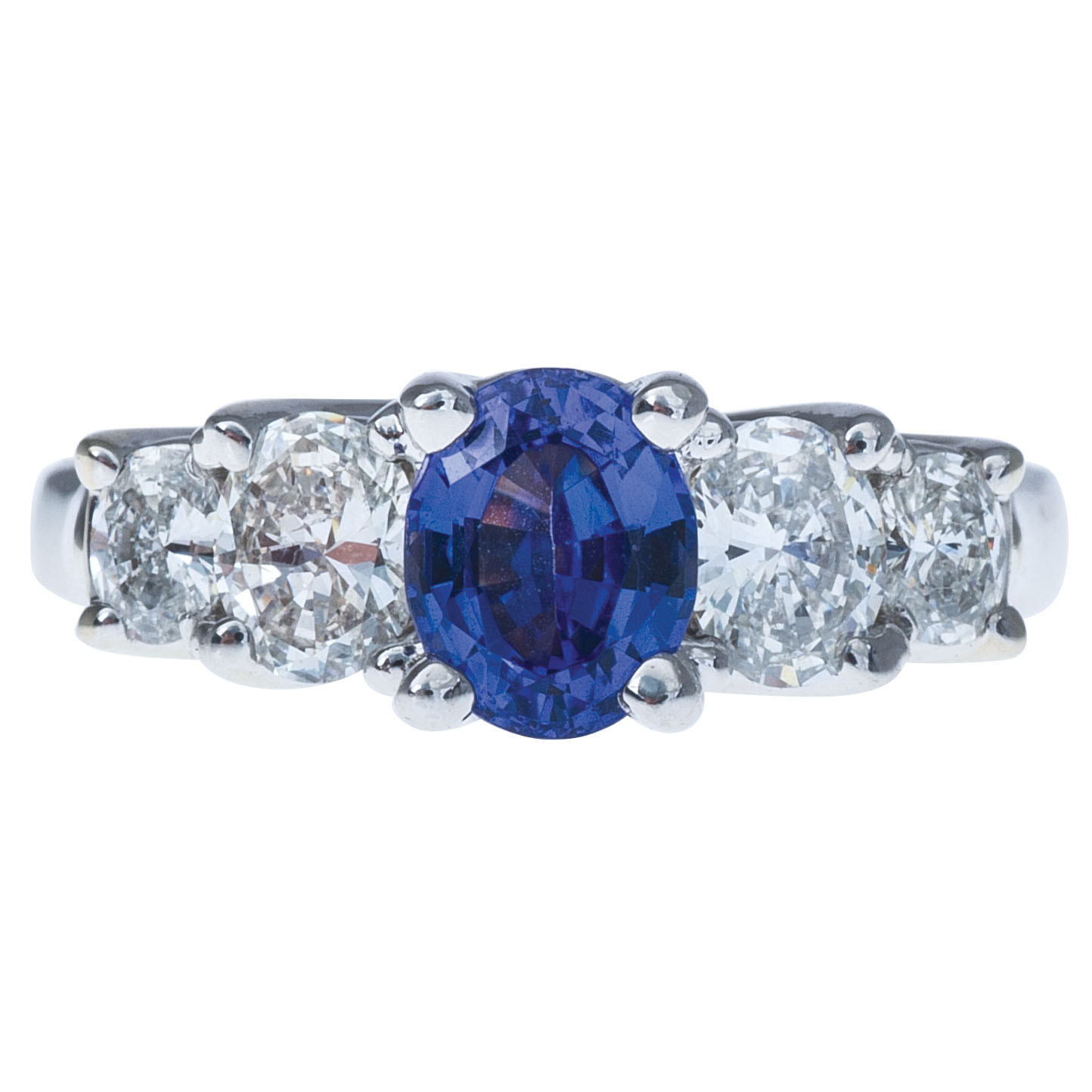 Vintage 0.95 CT Tanzanite & Diamond Ring