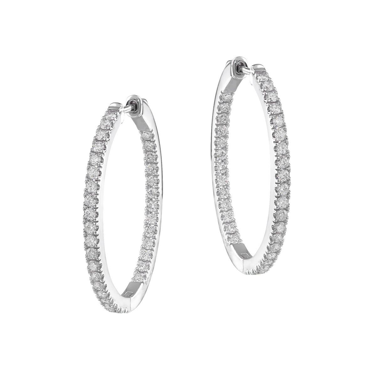 New Mémoire 0.75 CTW Diamond Hoop Earrings