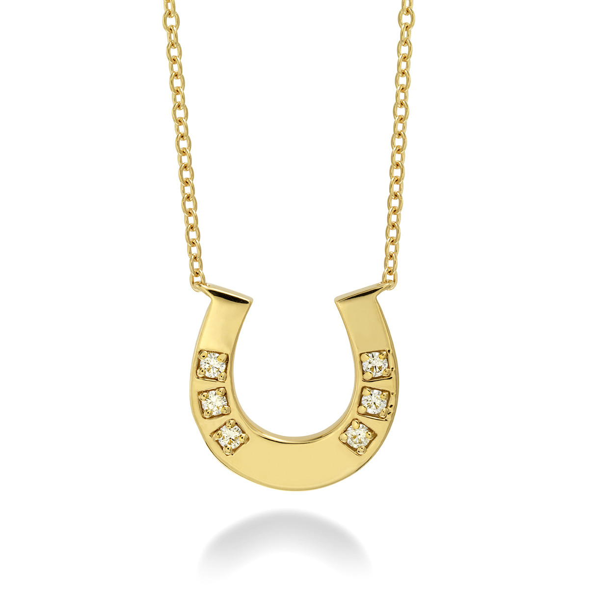 New Hearts On Fire® 0.08 CTW Diamond Horseshoe Necklace