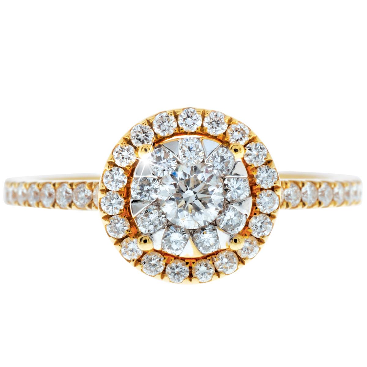 New Mémoire® Bouquet 0.74 CTW Diamond Ring