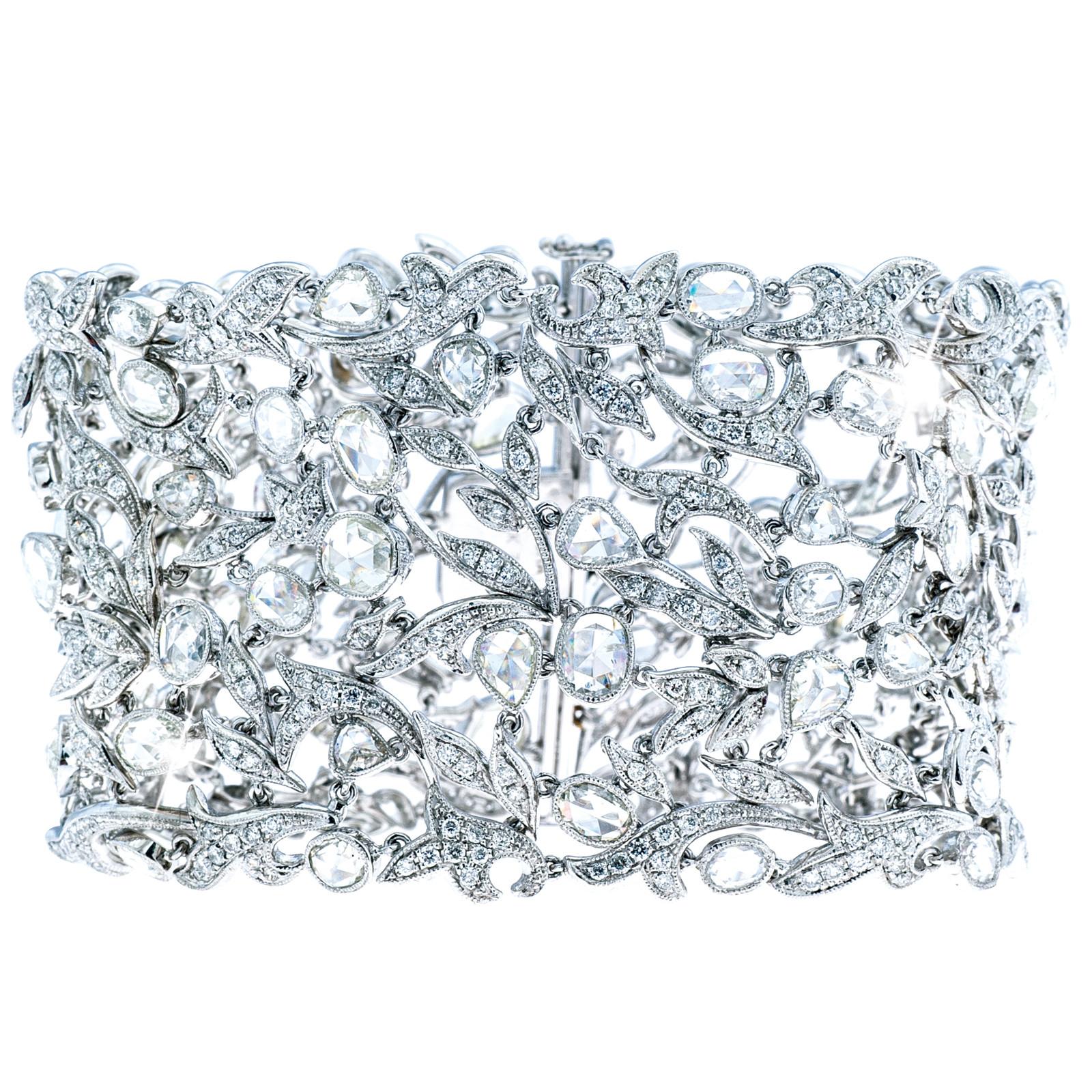 New 14K White Gold 22.10 CTW Diamond Bracelet