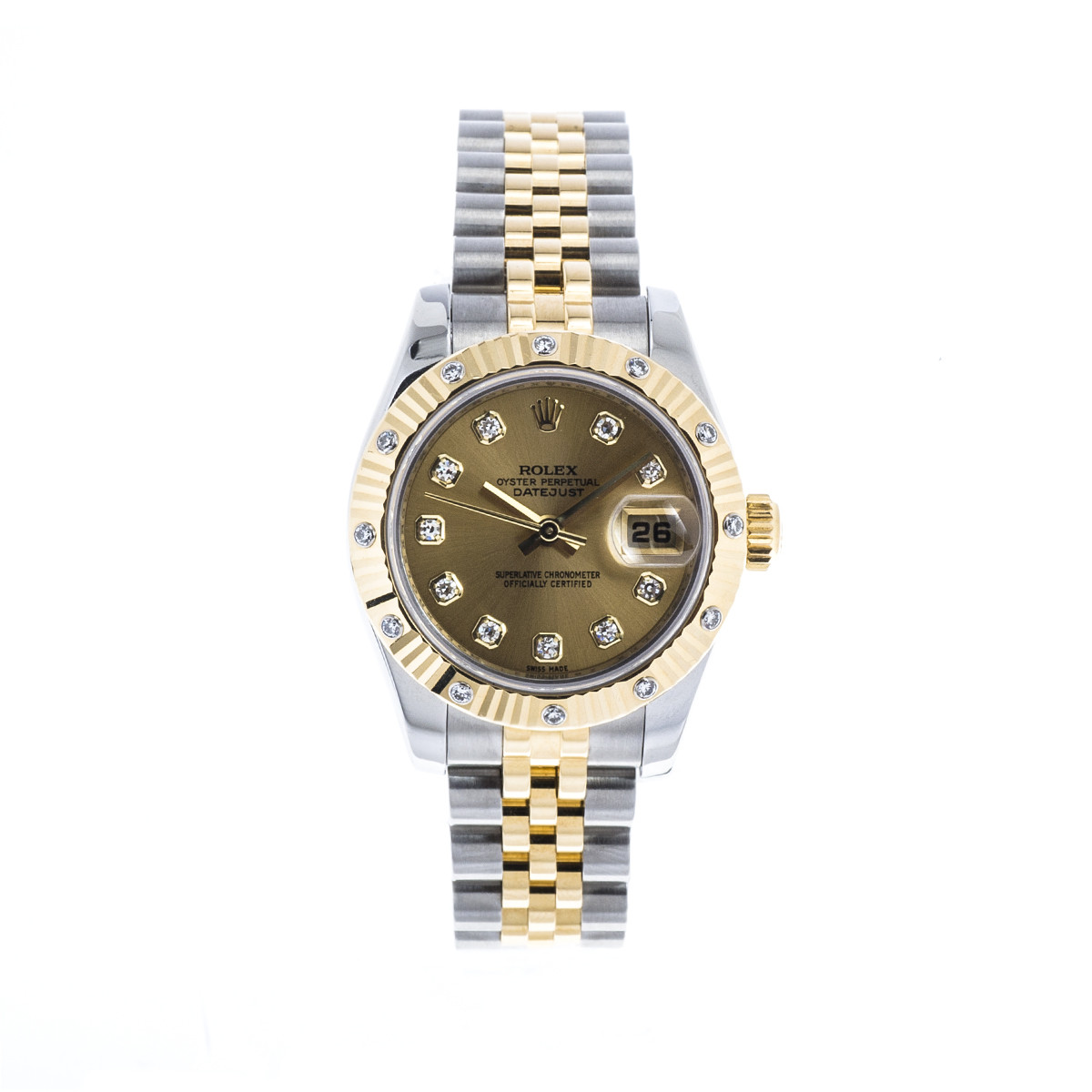 Pre-Owned Women's Rolex Datejust with Diamond Dial & Bezel