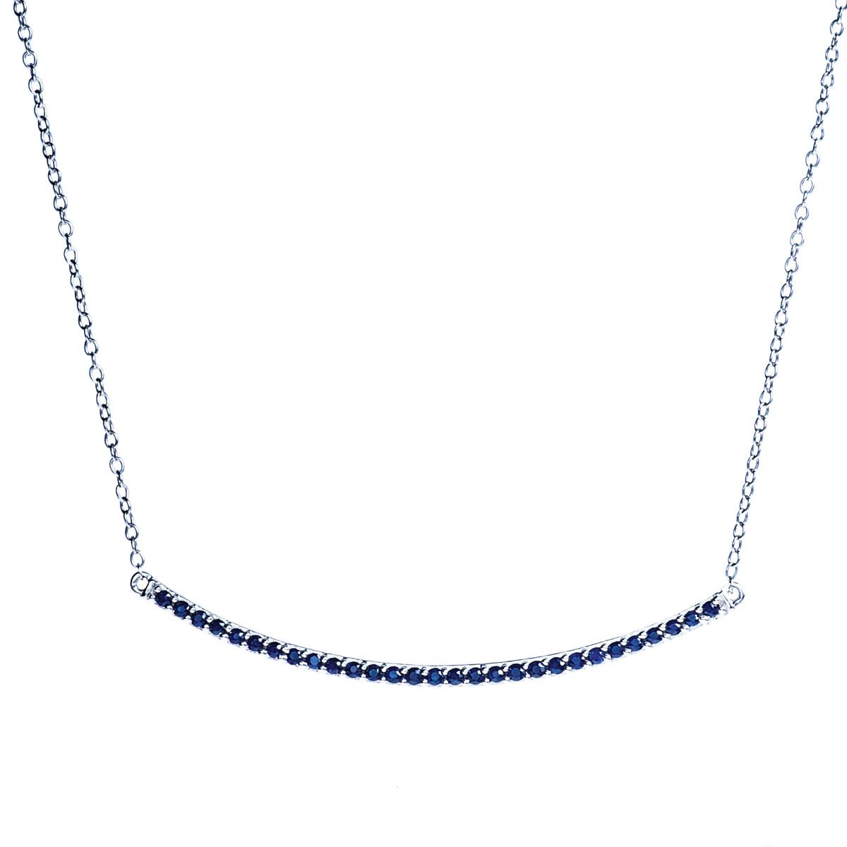 0.29 CTW Sapphire Bar Necklace