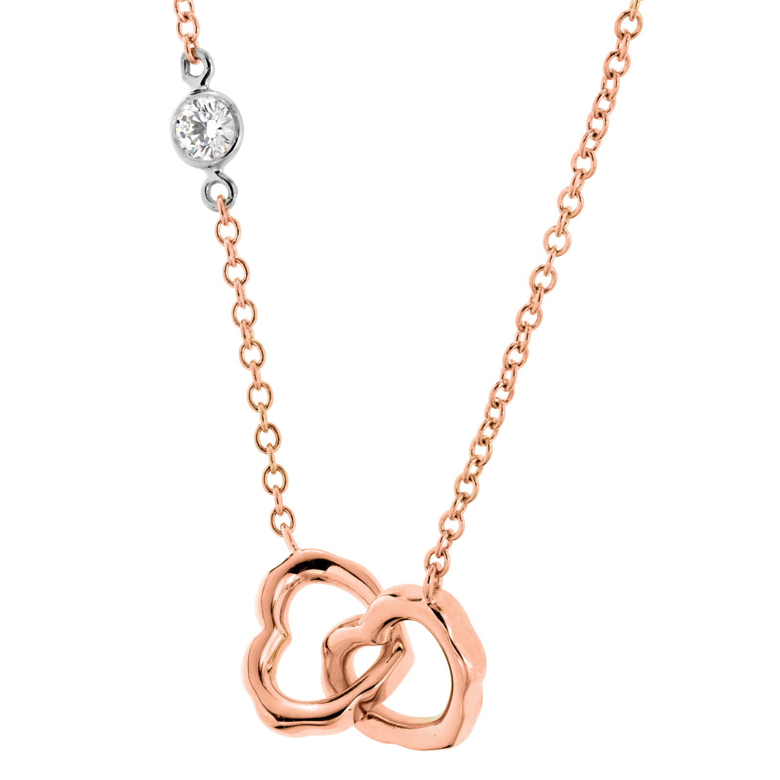 Hearts On Fire® Lorelei Interlocking Heart Necklace