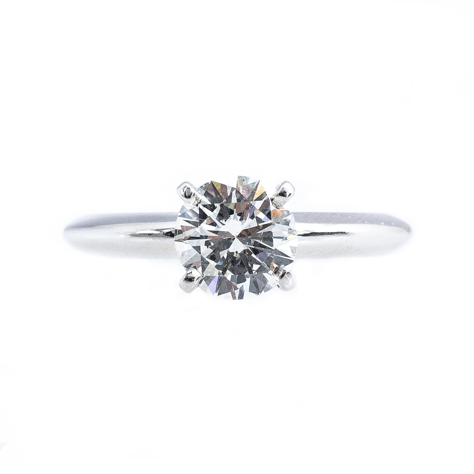 Vintage 1.00 CT Diamond Solitaire Engagement Ring