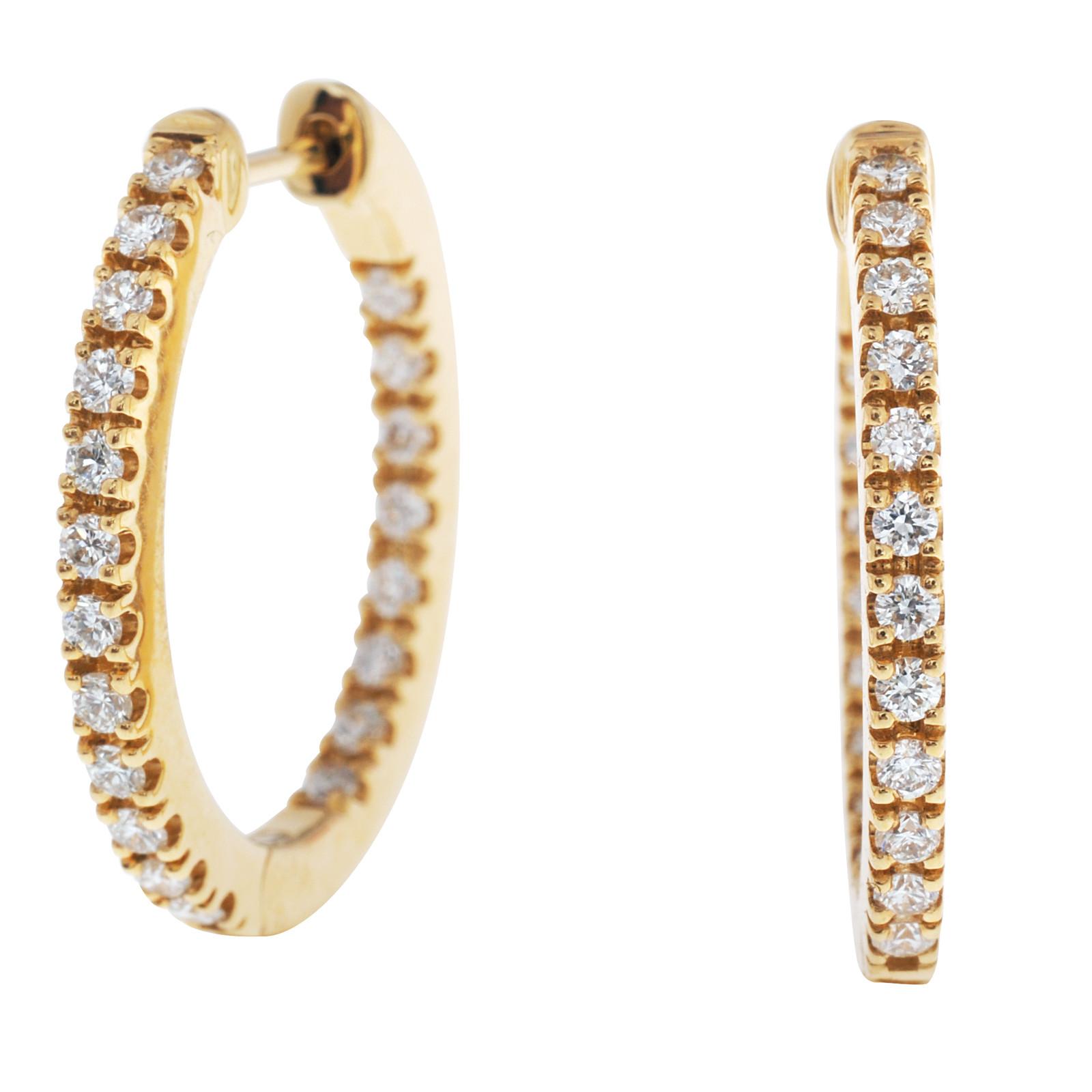 Mémoire® 0.50 CTW Diamond Hoop Earrings